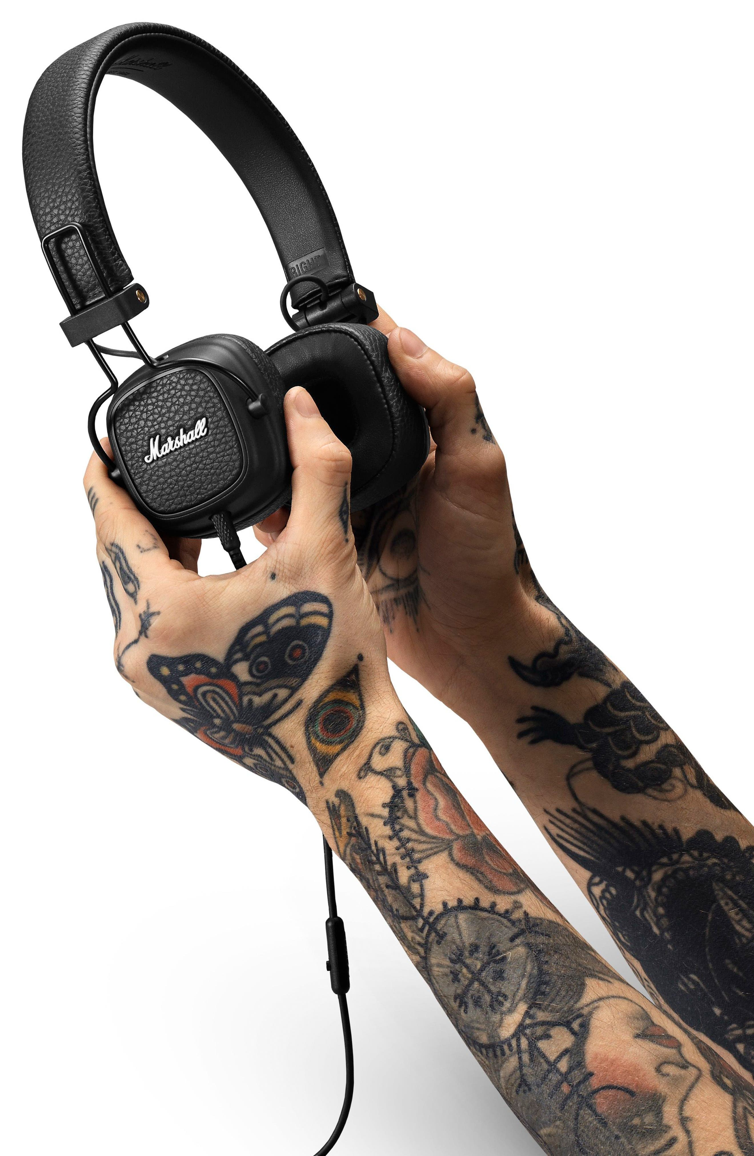 Major III Wired Headphones,                             Alternate thumbnail 3, color,                             BLACK