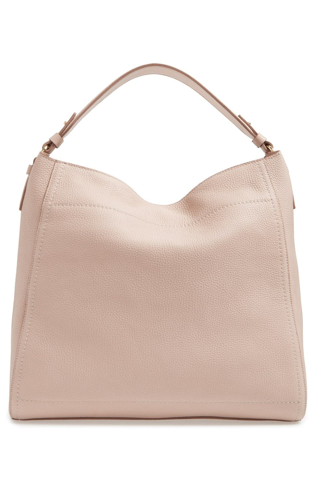 Calfskin Leather Hobo,                             Alternate thumbnail 5, color,                             250