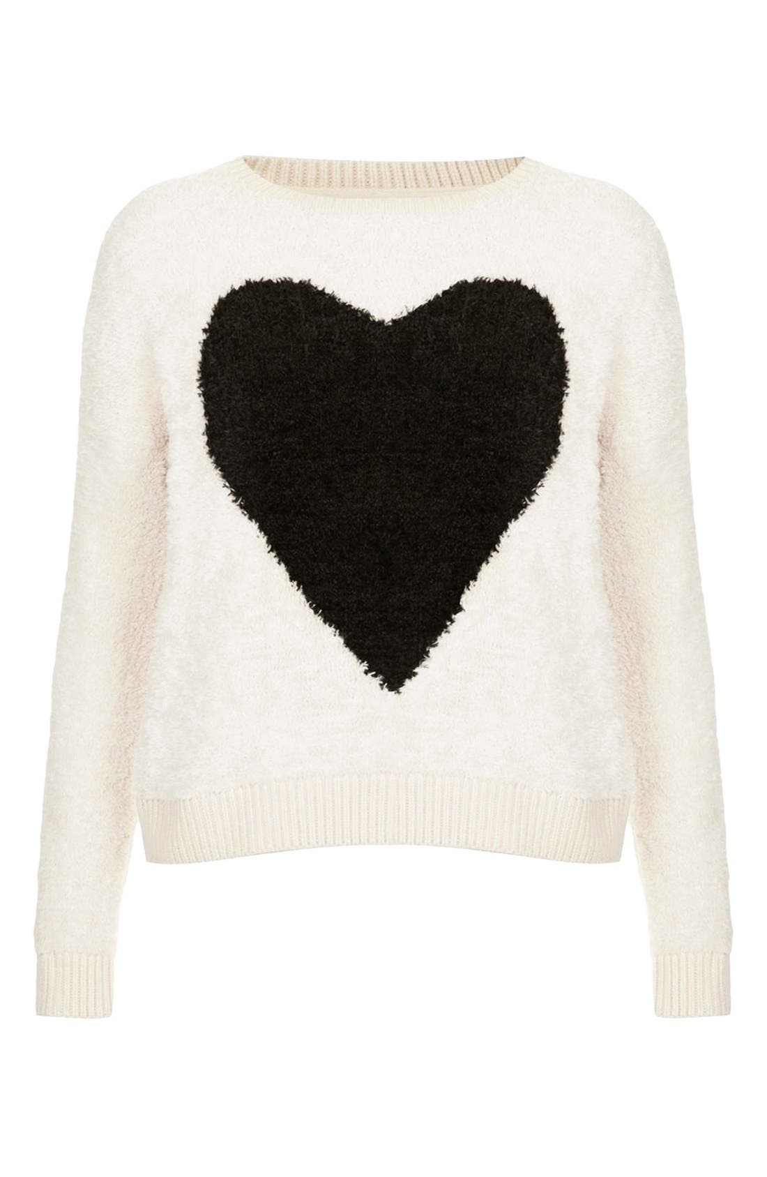 'Babe Heart' Sweater,                             Alternate thumbnail 2, color,                             101