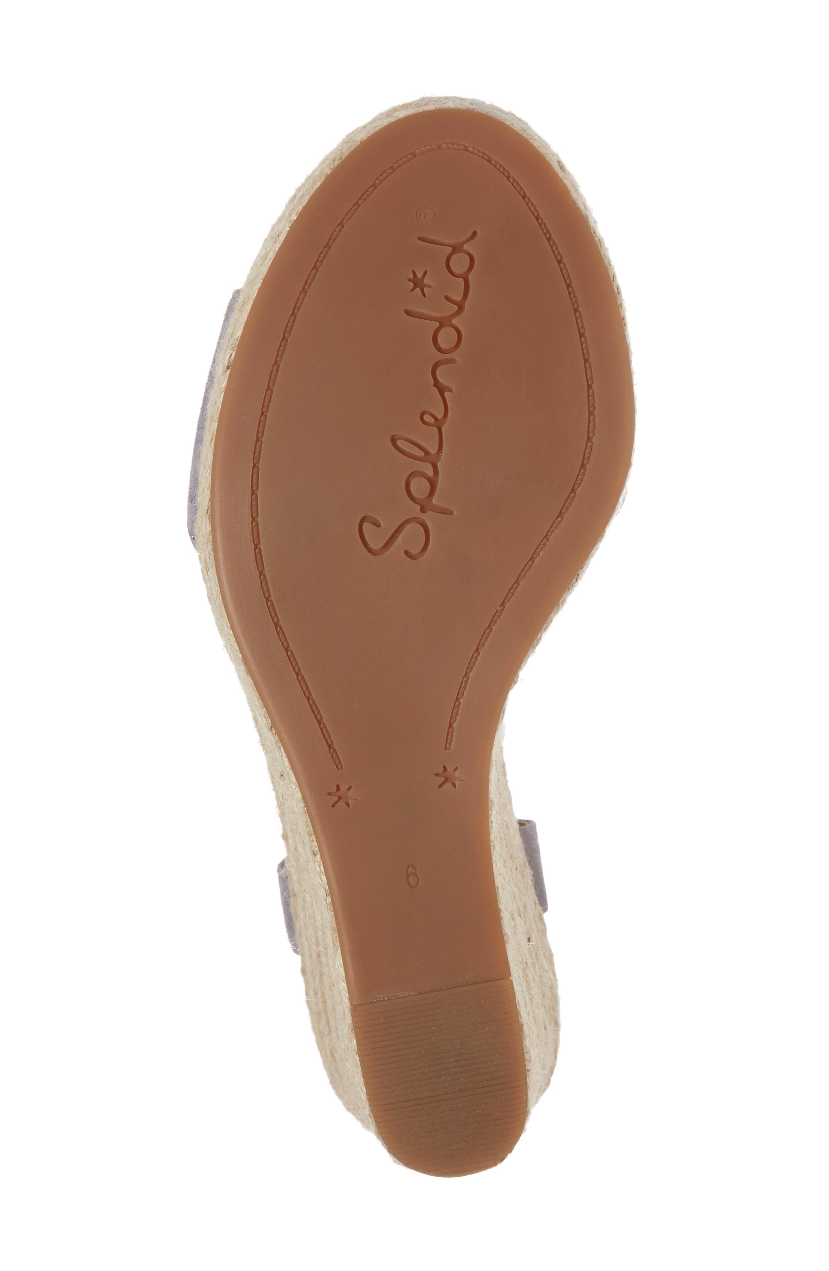 Fianna Espadrille Wedge Sandal,                             Alternate thumbnail 6, color,                             STEEL GREY SUEDE