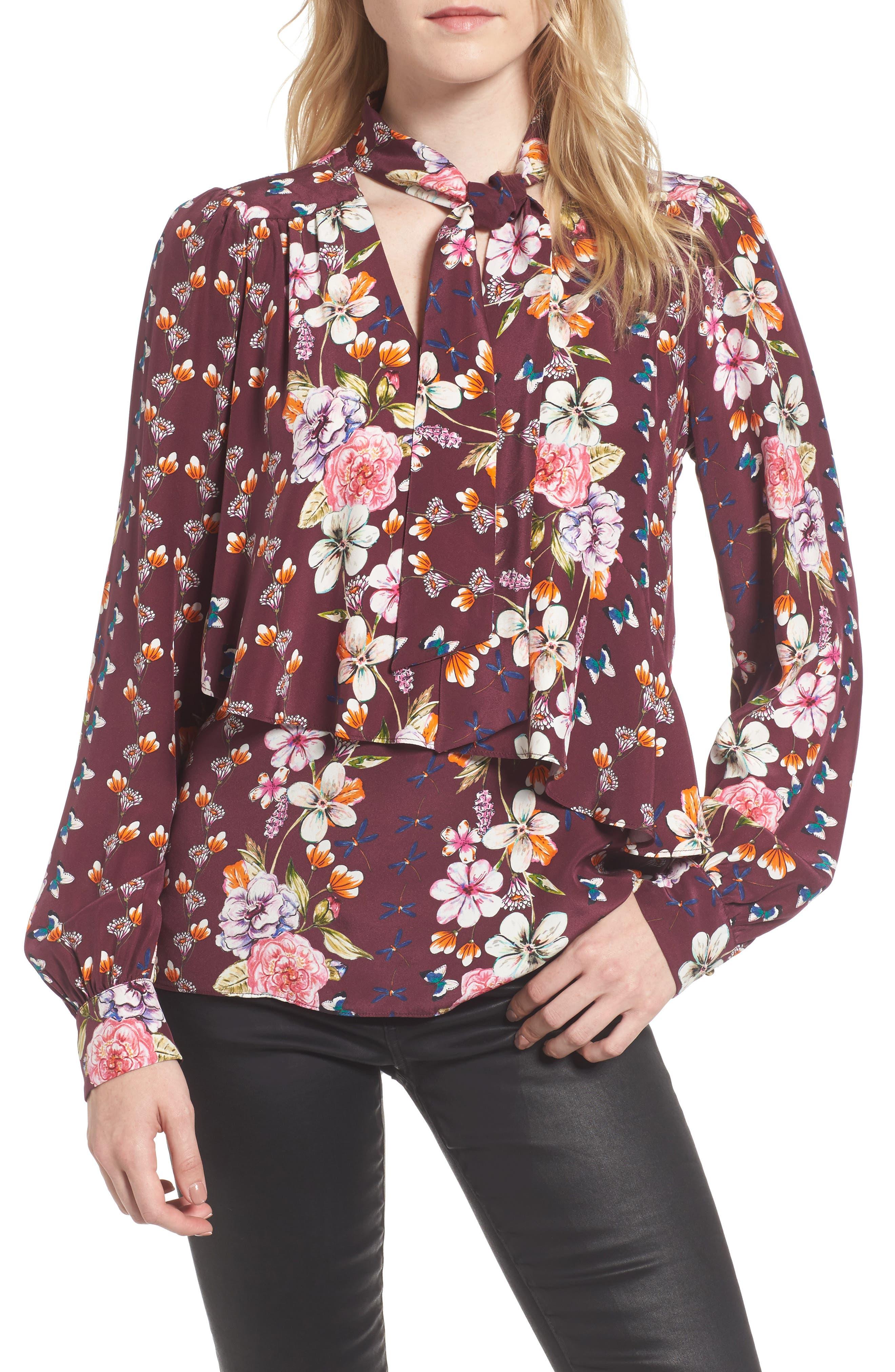 Kinsley Silk Blouse,                         Main,                         color, 932