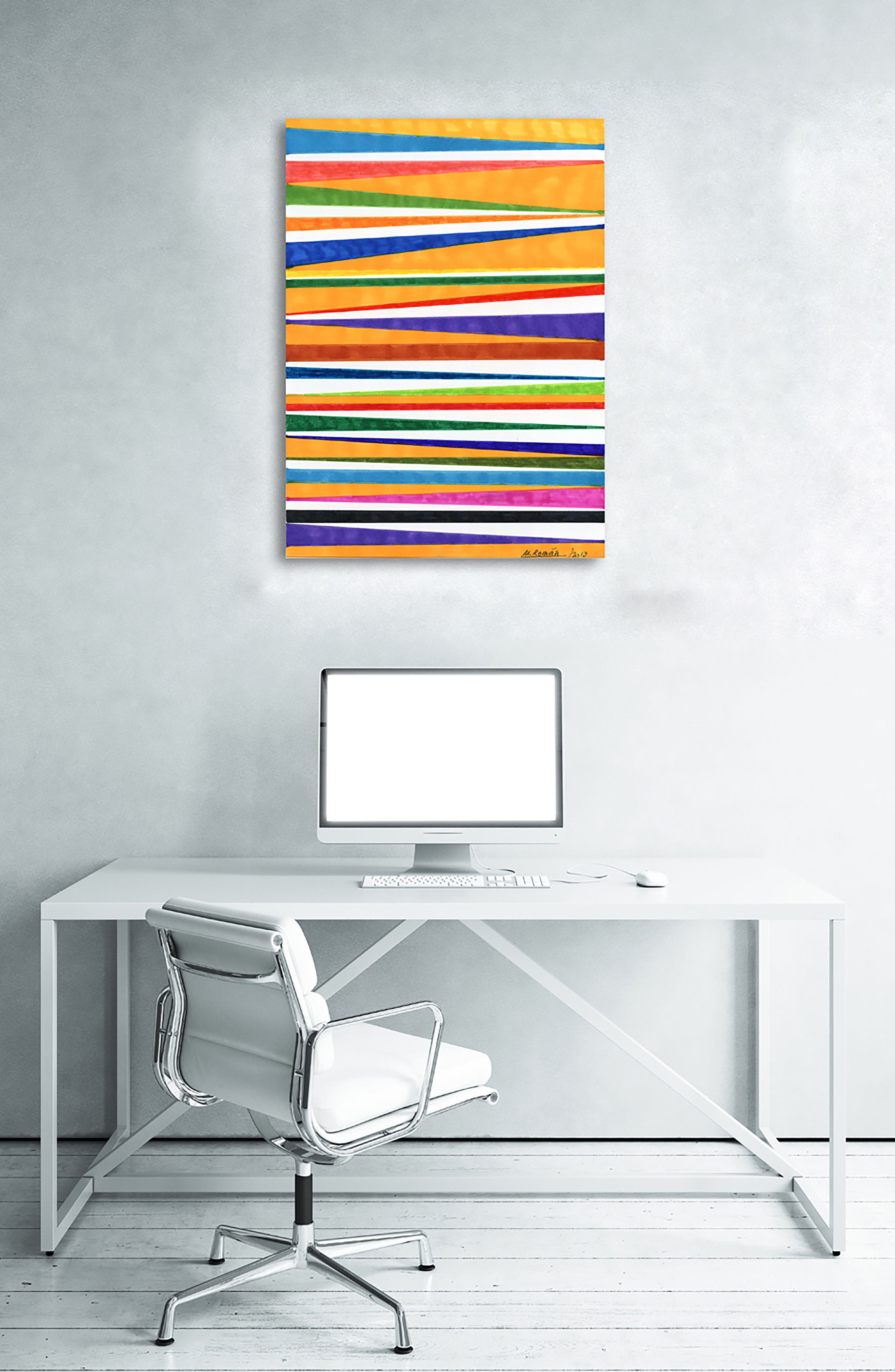 Canotiers in Color Canvas Wall Art,                             Alternate thumbnail 2, color,                             800