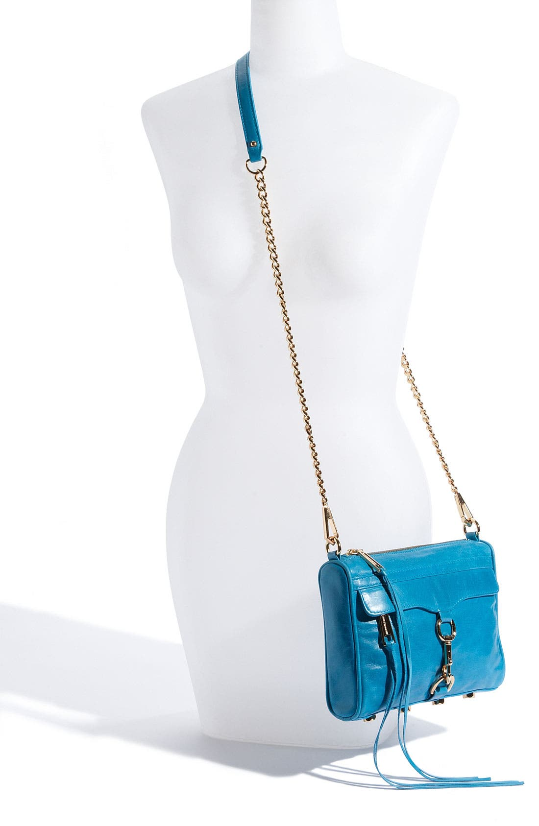 'Mini MAC' Croc Embossed Convertible Crossbody Bag,                             Alternate thumbnail 40, color,