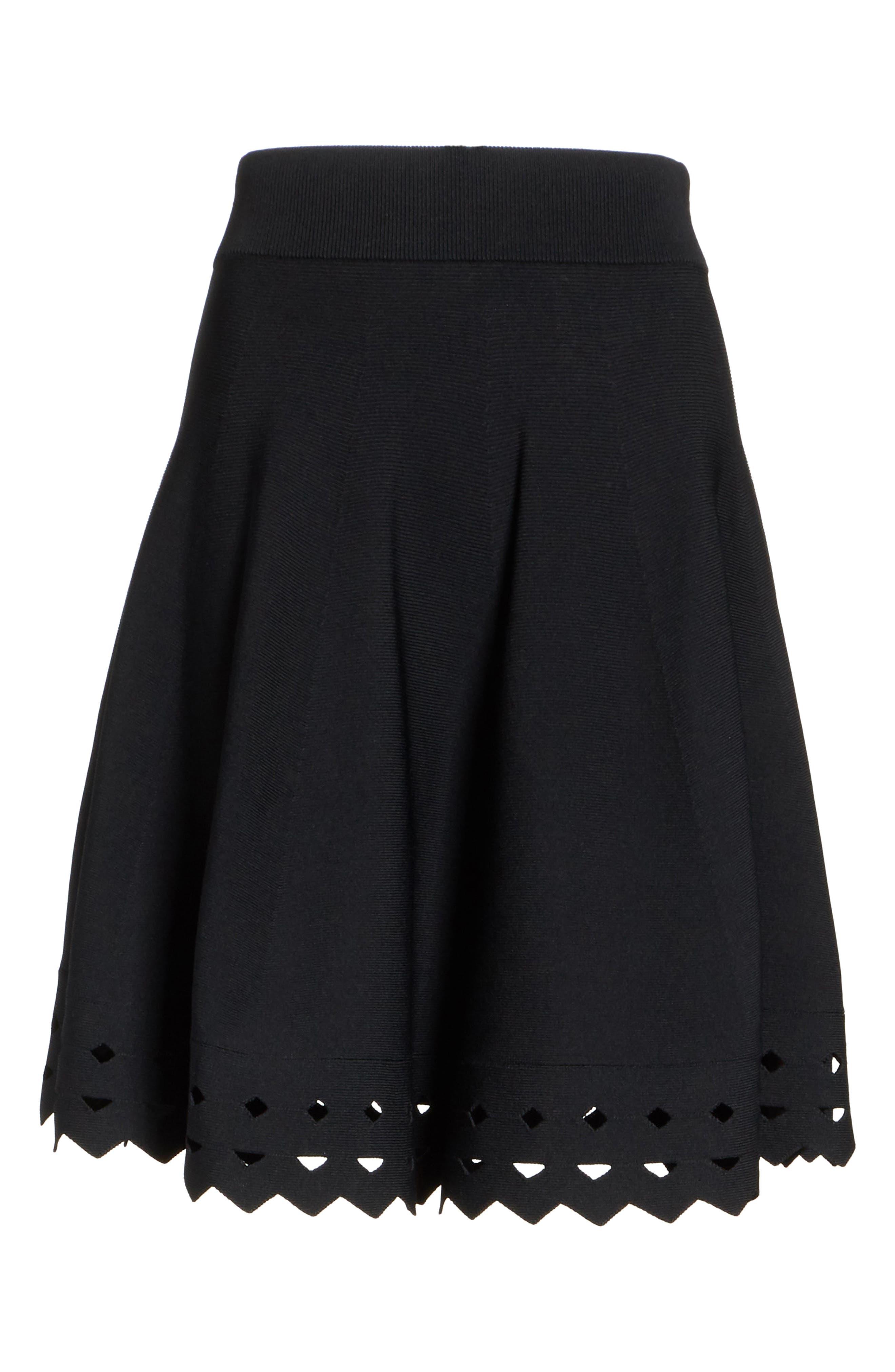 June Cutout Hem Skirt,                             Alternate thumbnail 6, color,                             001