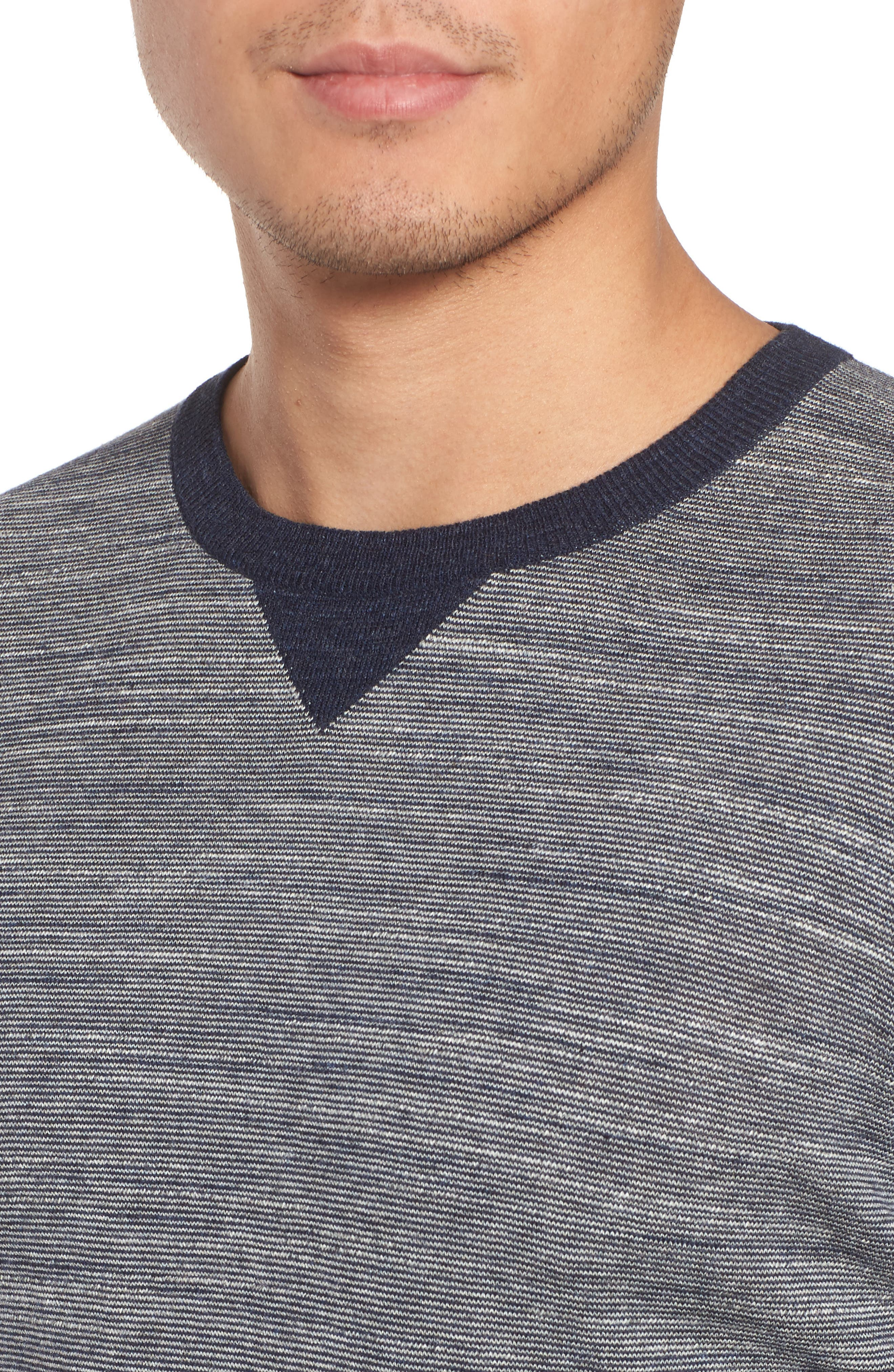 Pintor Slim Fit Fineline Stripe Sweater,                             Alternate thumbnail 8, color,