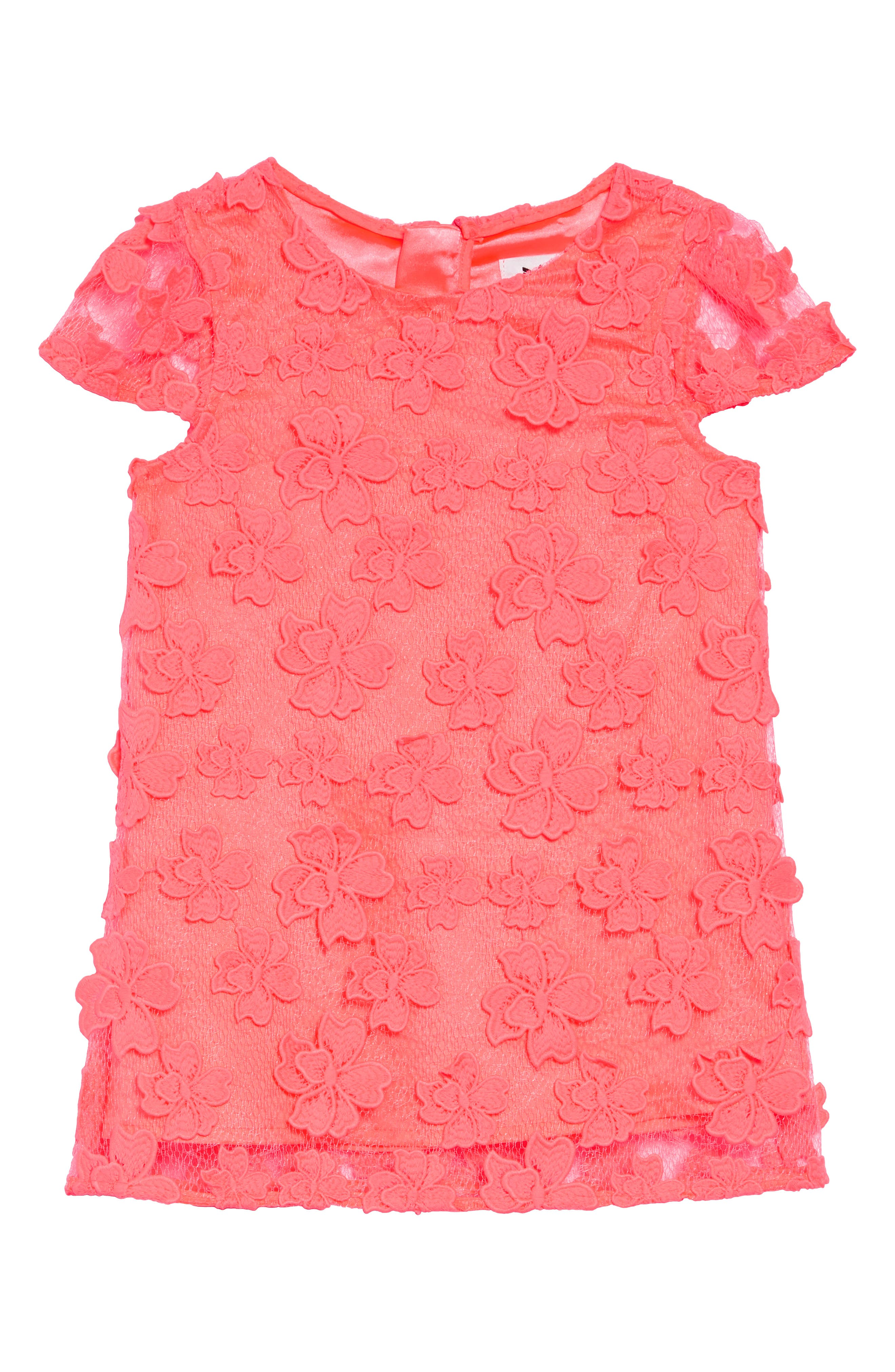 Toddler Girls Milly Minis Chloe Floral Applique Dress Size 23T  Pink