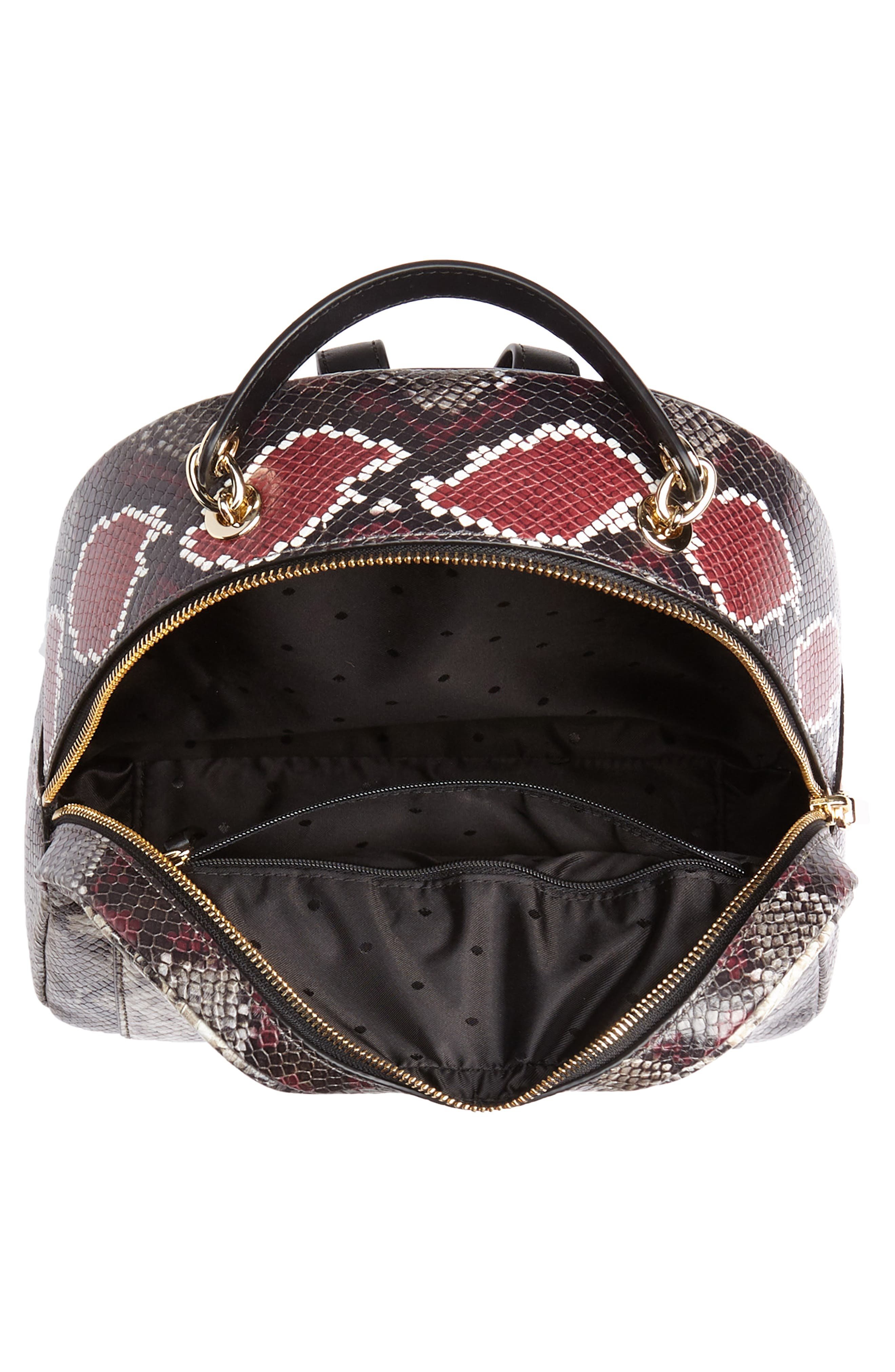 reese park - ethel snake embossed leather backpack,                             Alternate thumbnail 4, color,                             200