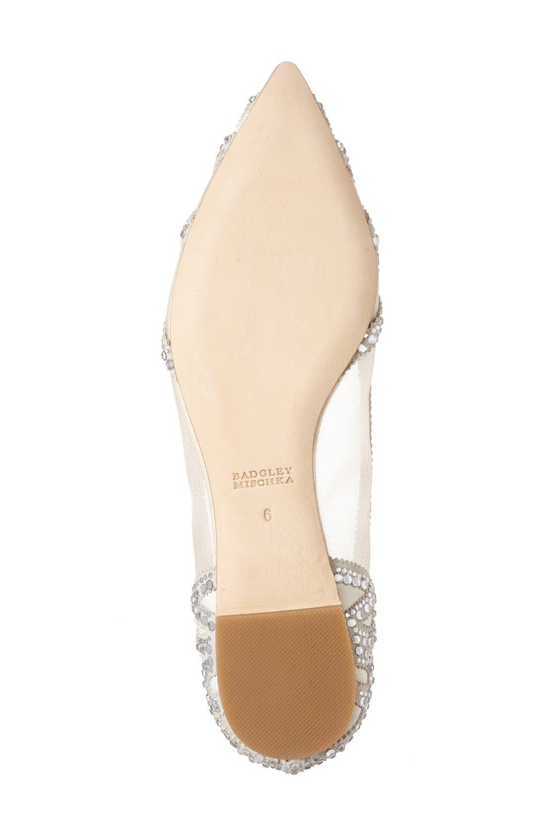 Gigi Crystal Pointy Toe Flat,                             Alternate thumbnail 24, color,