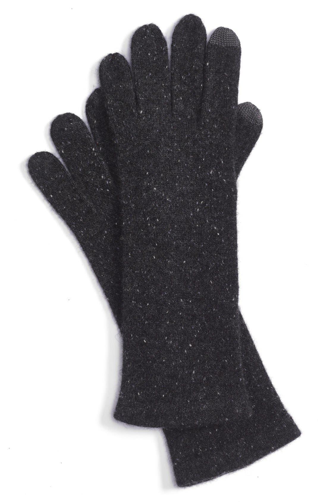 ECHO,                             'Touch' Cashmere Gloves,                             Main thumbnail 1, color,                             001