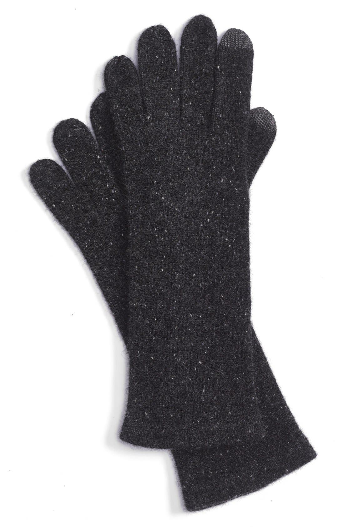 ECHO 'Touch' Cashmere Gloves, Main, color, 001