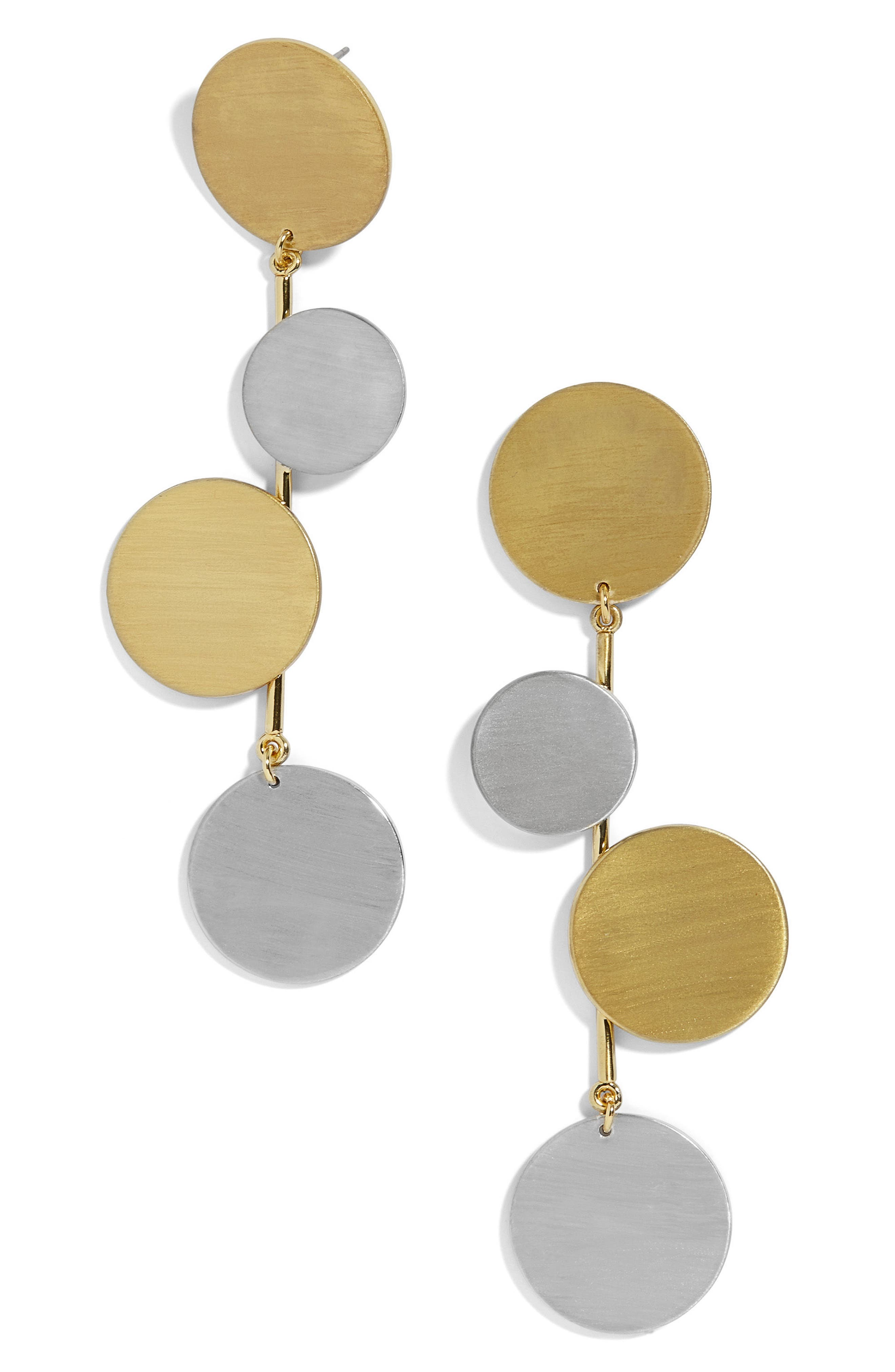 Rona Alternating Disc Statement Earrings,                             Main thumbnail 1, color,