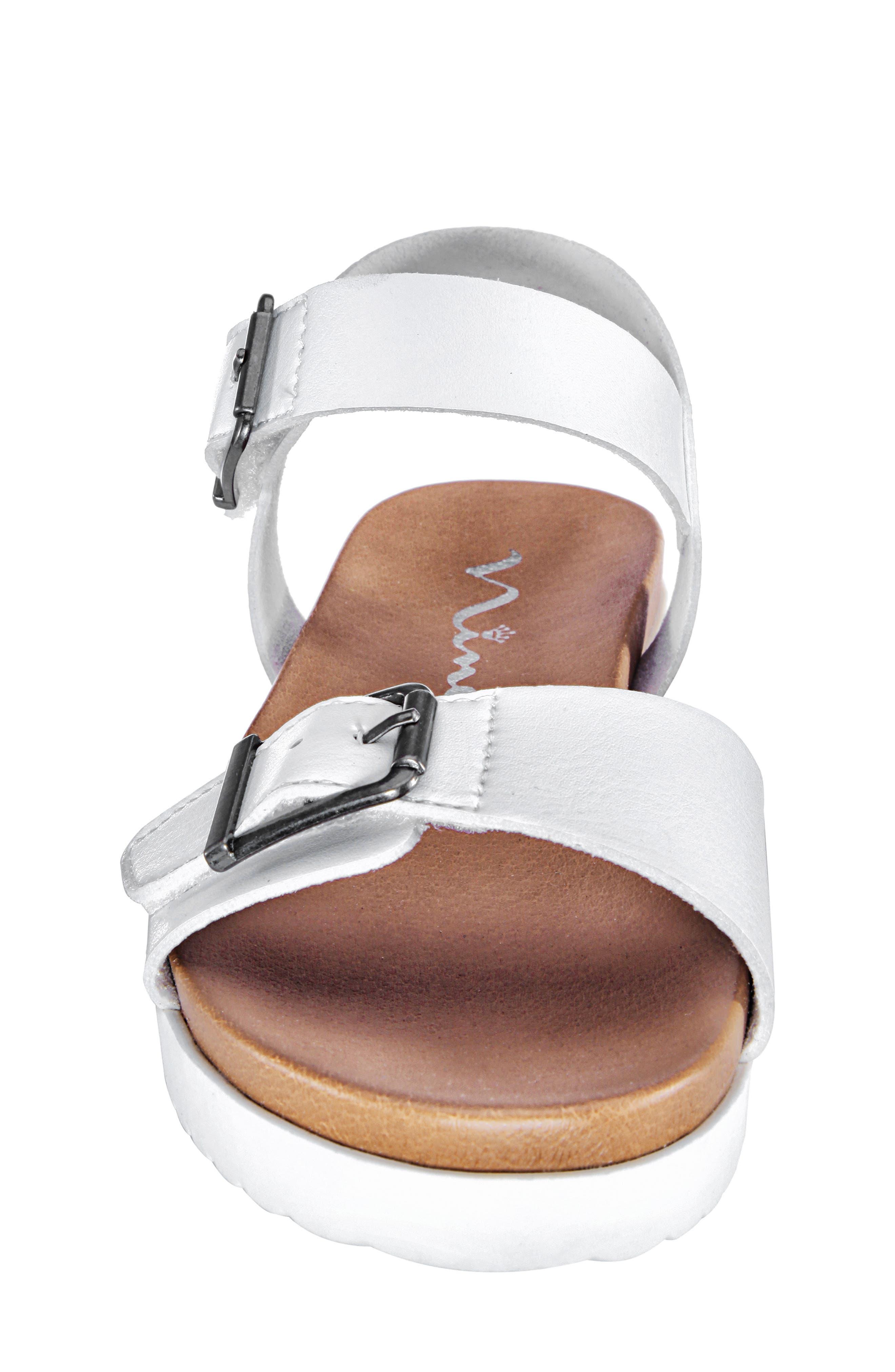 NINA,                             Jacklin3 Quarter Strap Sandal,                             Alternate thumbnail 4, color,                             WHITE TUMBLE