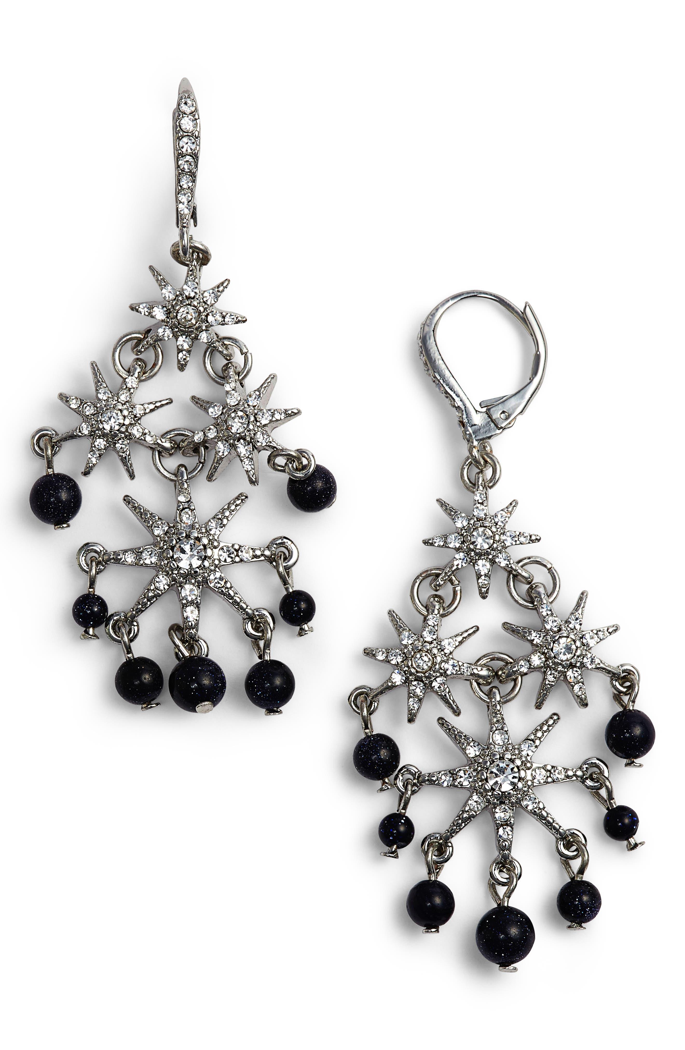 Star Chandelier Drop Earrings,                         Main,                         color,