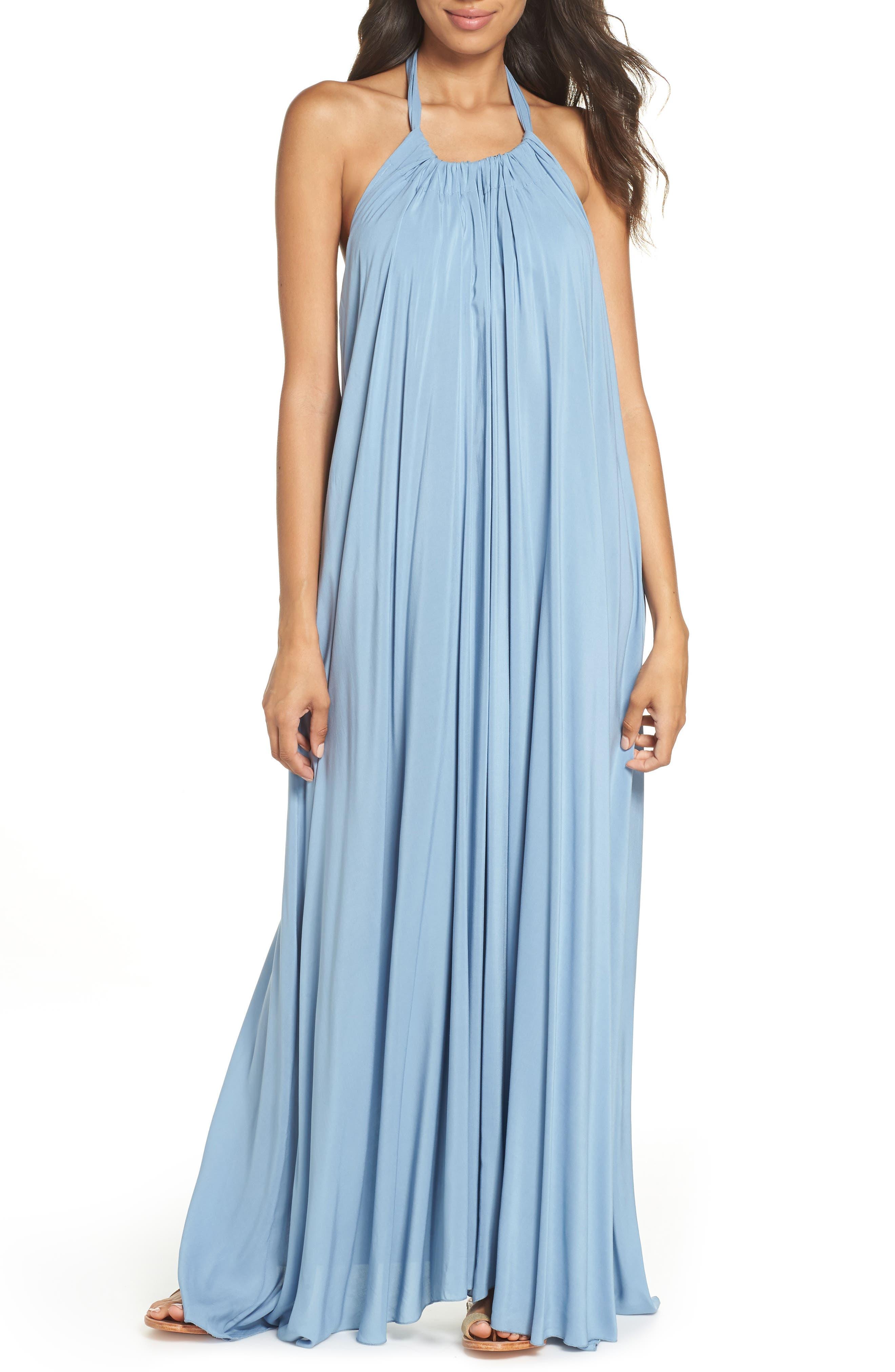 Elan Cover-Up Maxi Dress, Blue
