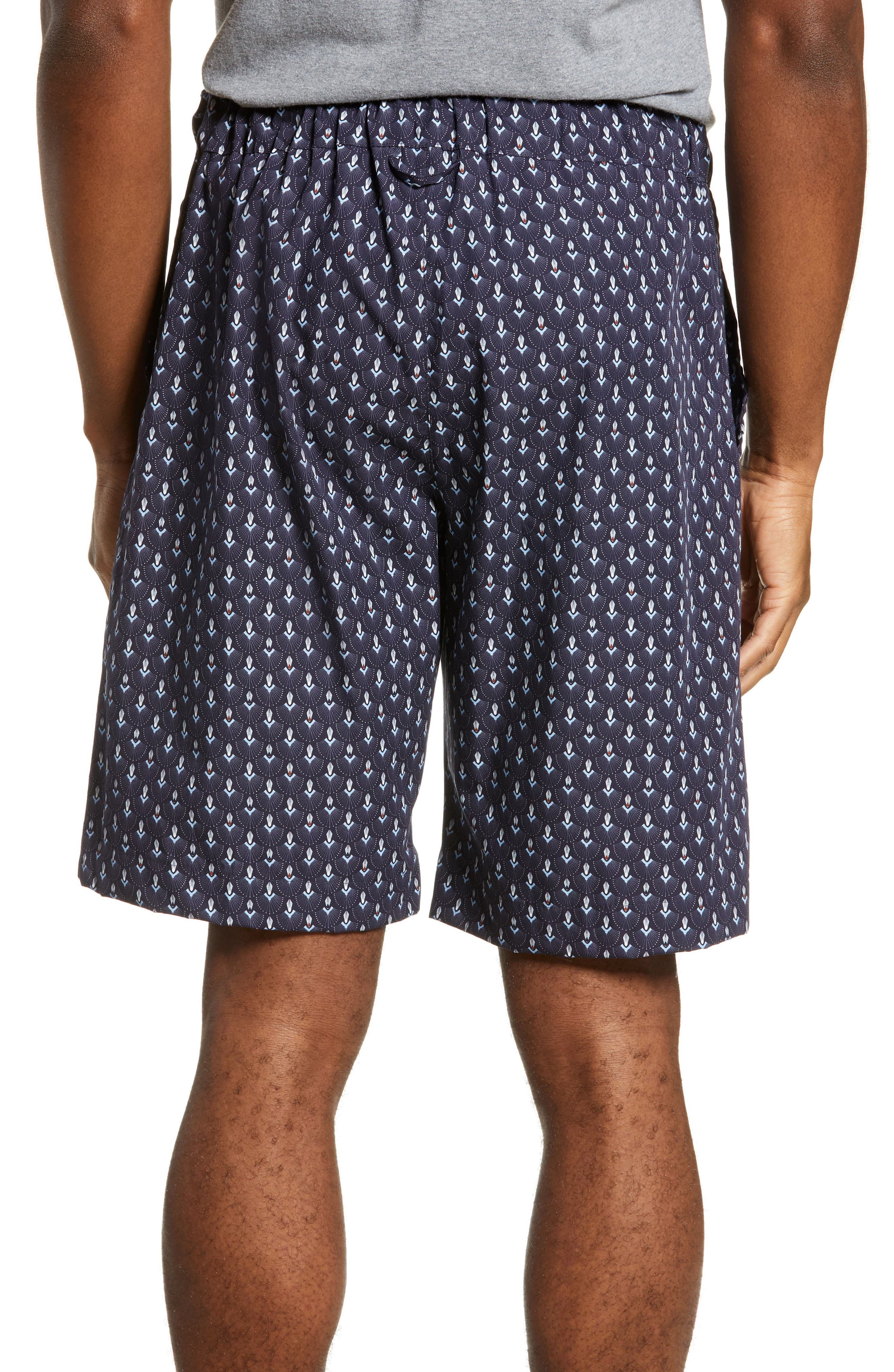 HANRO,                             Night & Day Cotton Lounge Shorts,                             Alternate thumbnail 2, color,                             GRAPHIC
