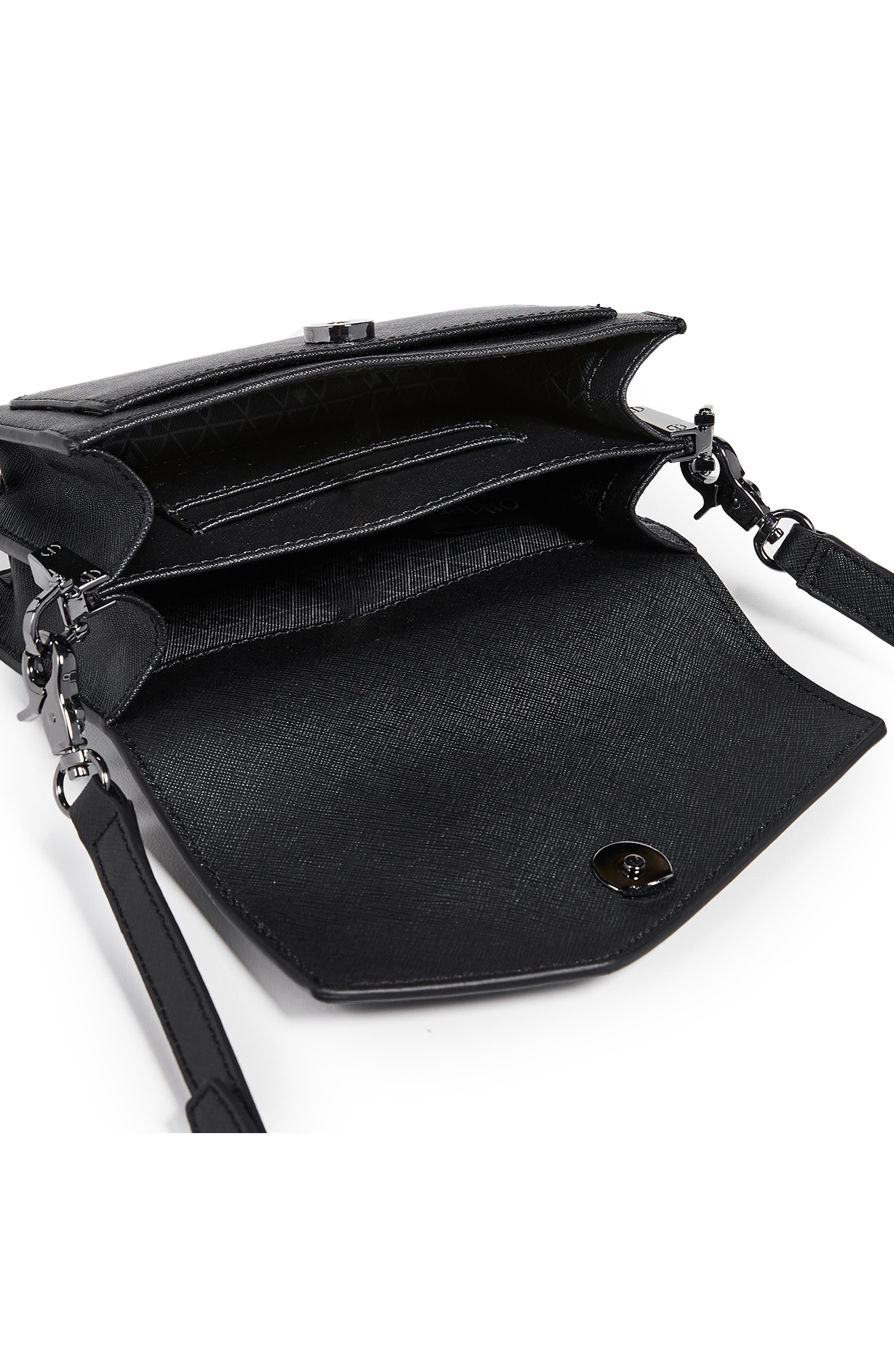 Cobble Hill Leather Convertible Belt Bag,                             Alternate thumbnail 3, color,                             BLACK