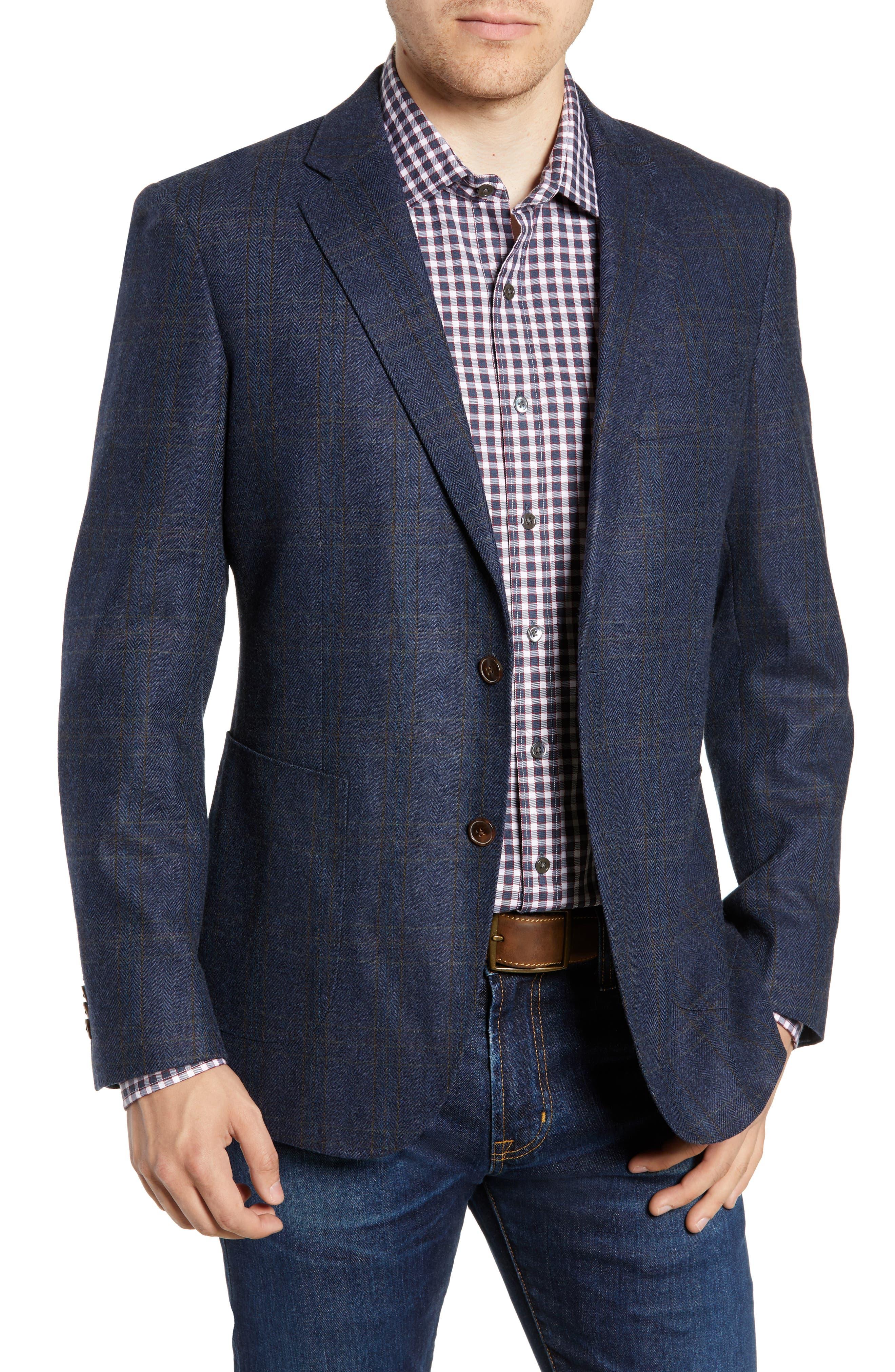 'Clareinch' Herringbone Plaid Sport Coat,                         Main,                         color, 412