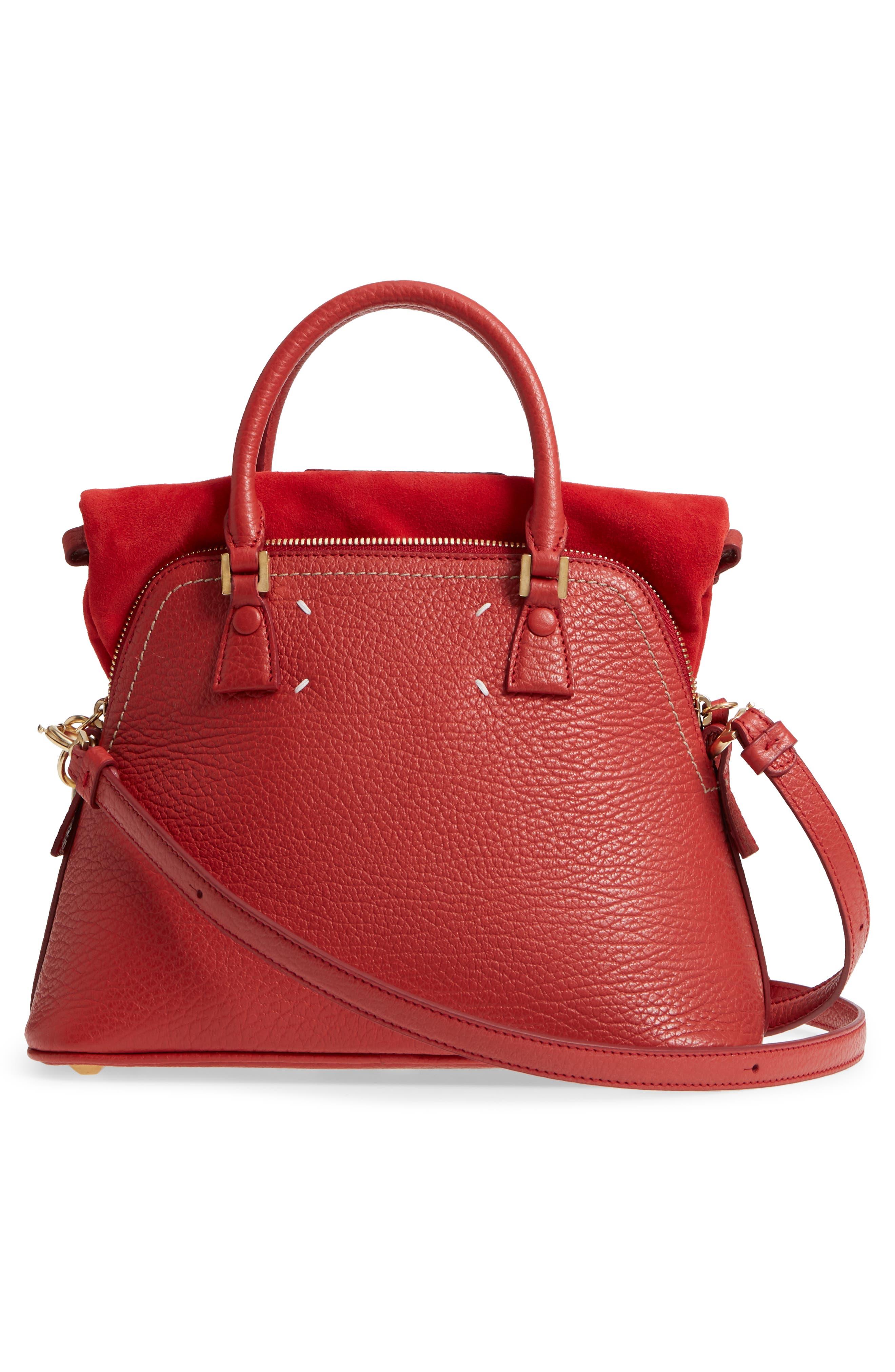 Small 5AC Calfskin Leather Handbag,                             Alternate thumbnail 4, color,                             600