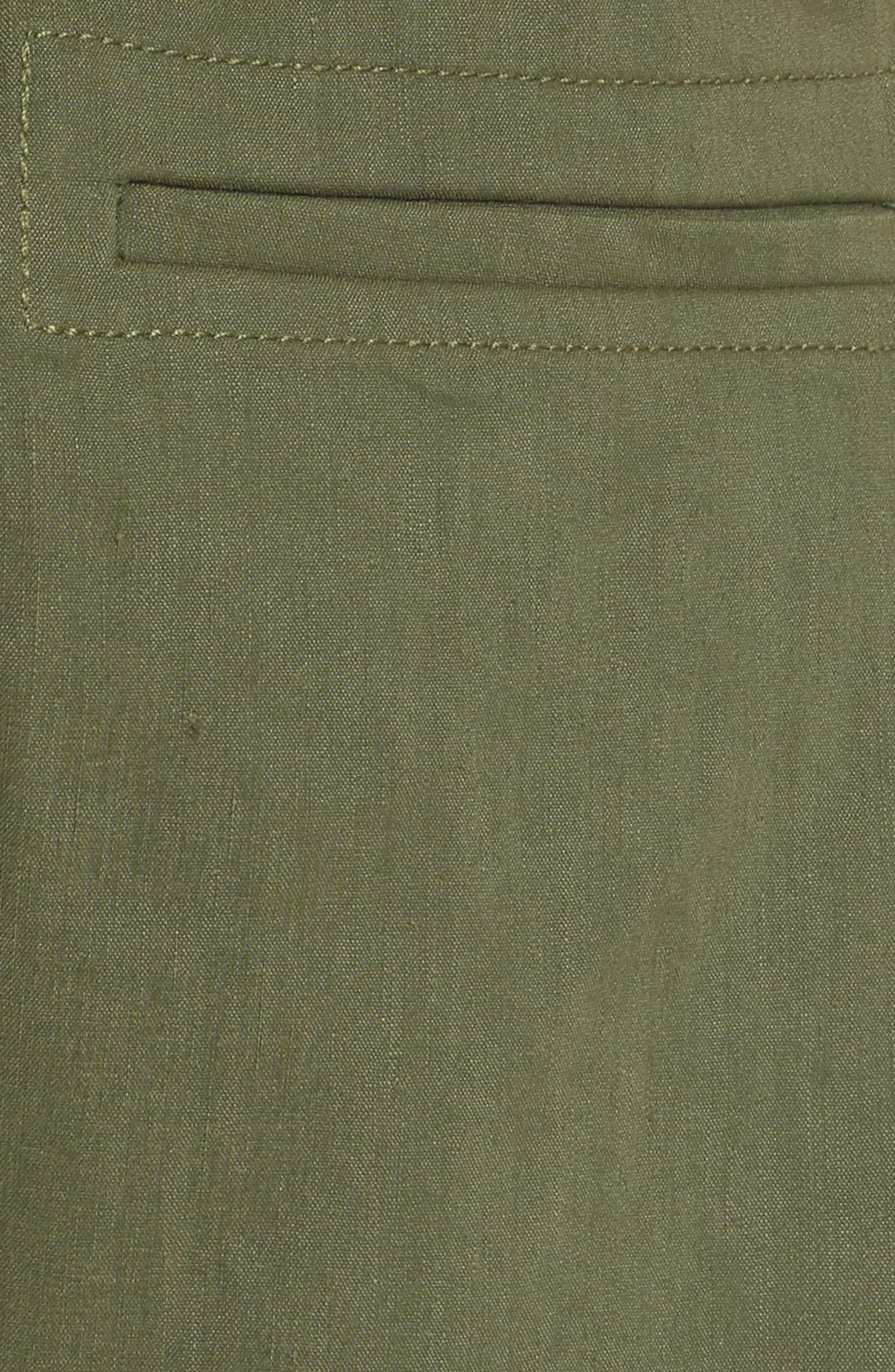 Rope Tie Linen Blend Shorts,                             Alternate thumbnail 15, color,