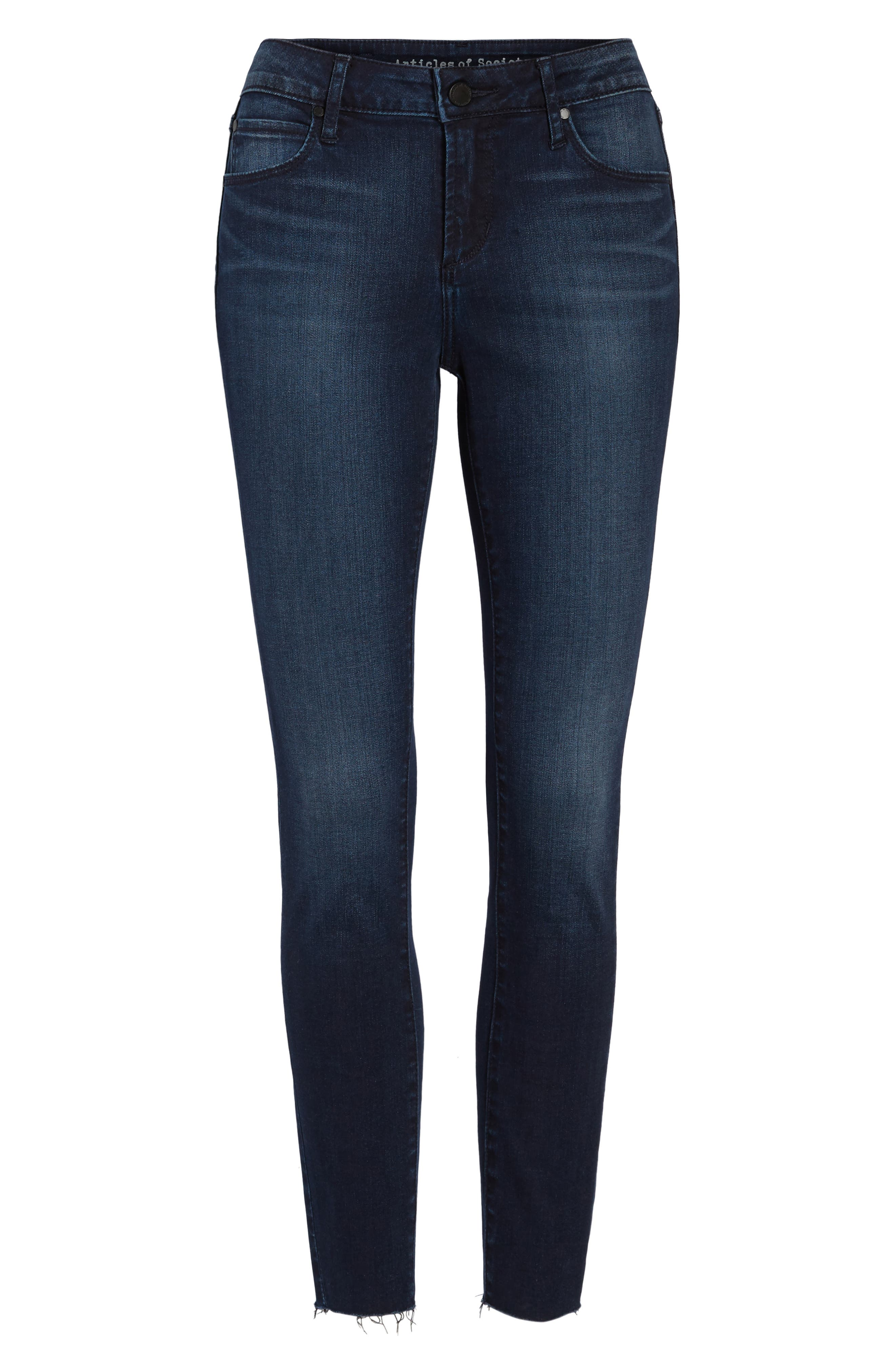 ARTICLES OF SOCIETY,                             Carly Crop Skinny Jeans,                             Alternate thumbnail 7, color,                             499