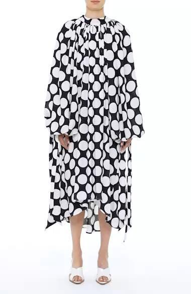 Giant Polka Dot Gathered Collar Dress, video thumbnail
