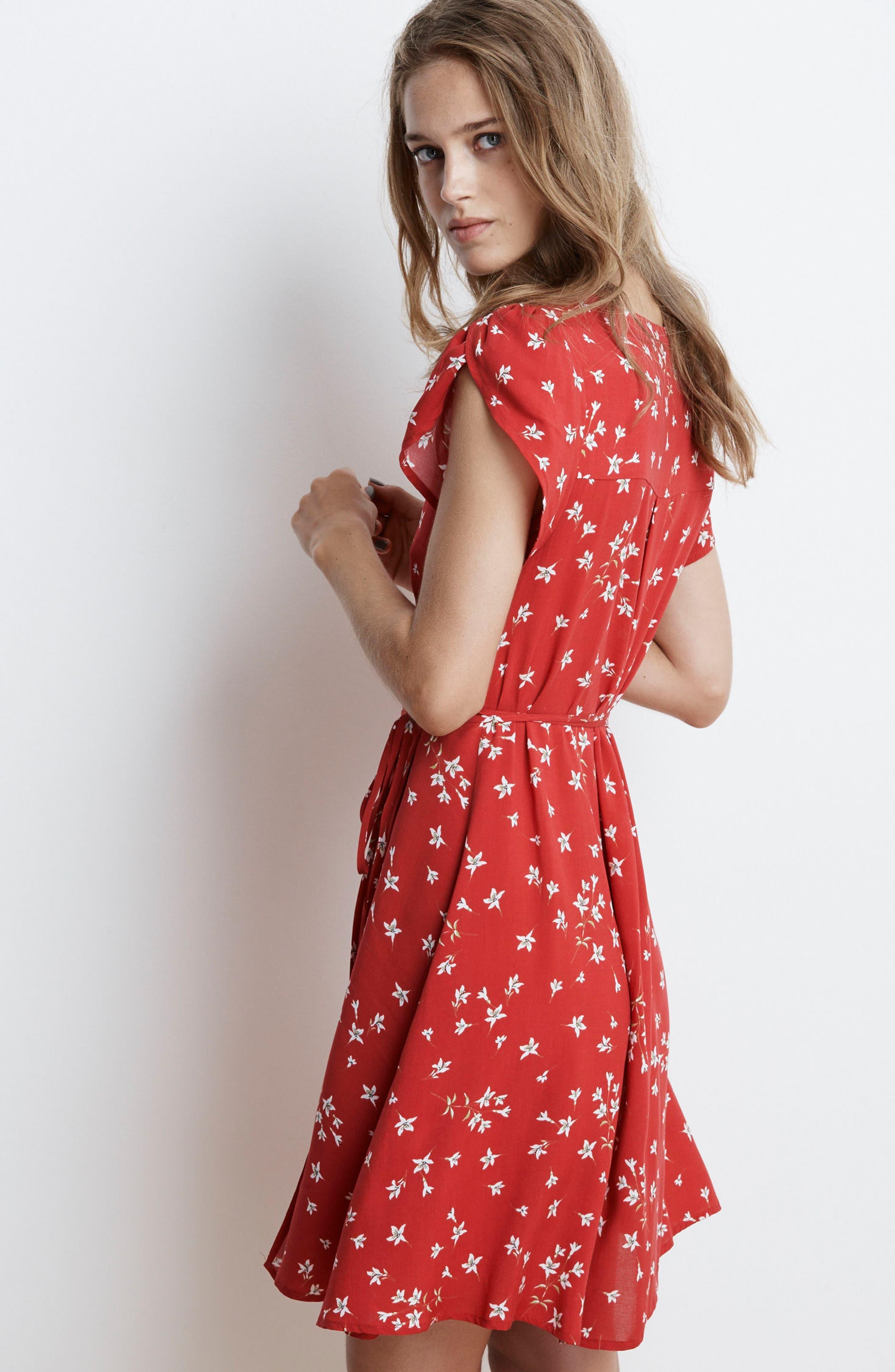 Spring Floral Wrap Dress,                             Alternate thumbnail 7, color,                             600