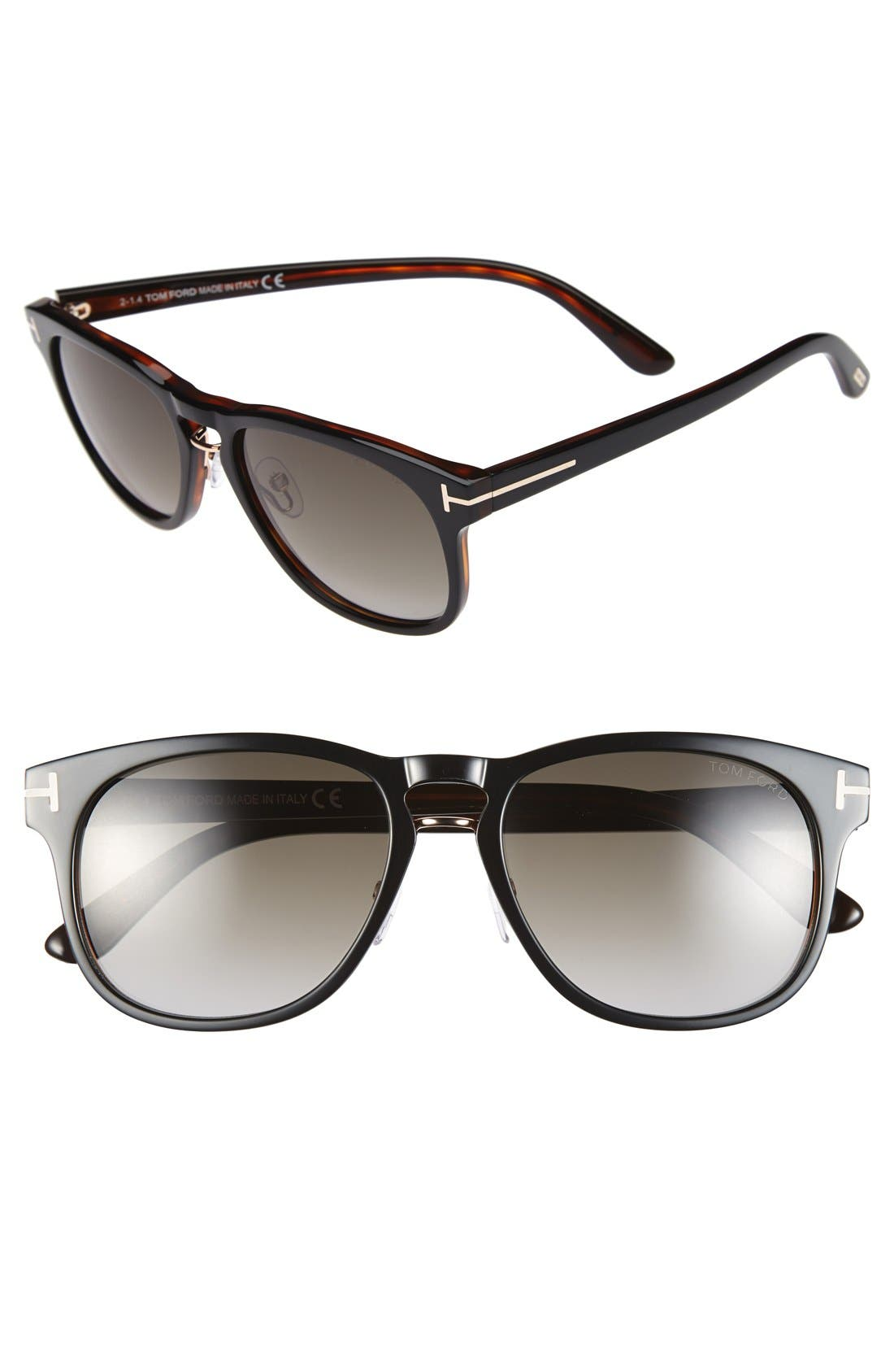 'Franklin' 55mm Sunglasses,                             Main thumbnail 1, color,                             001