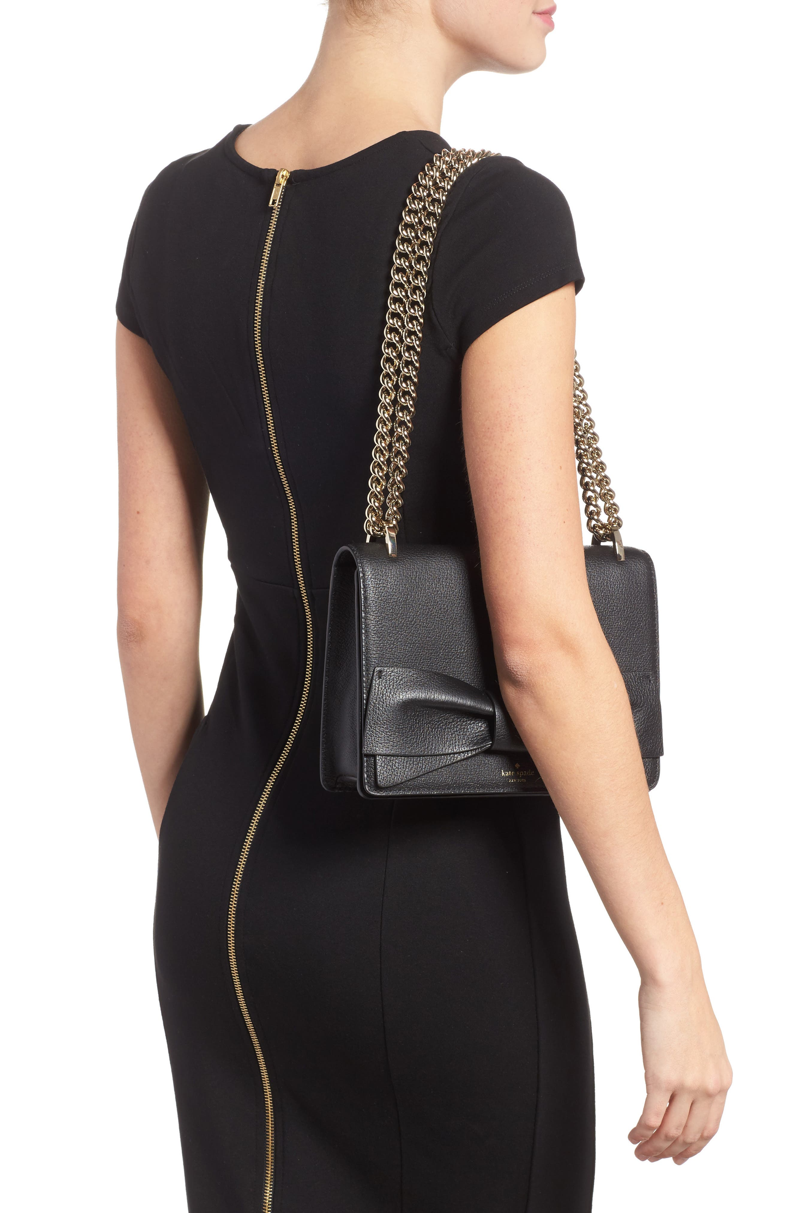 olive drive - marci leather shoulder bag,                             Alternate thumbnail 2, color,                             001
