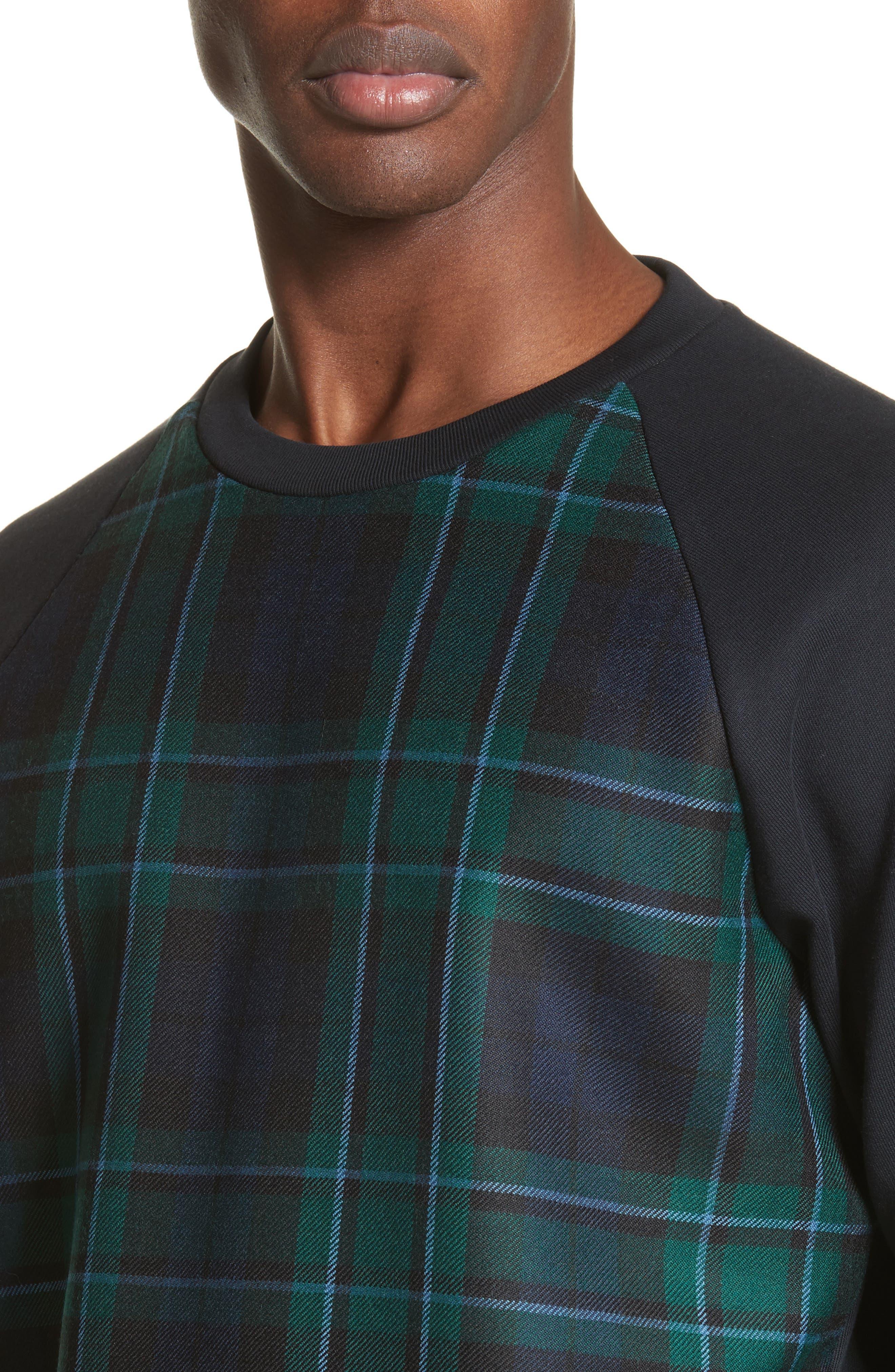 Beachen Tartan Panel Jersey Sweatshirt,                             Alternate thumbnail 4, color,                             410