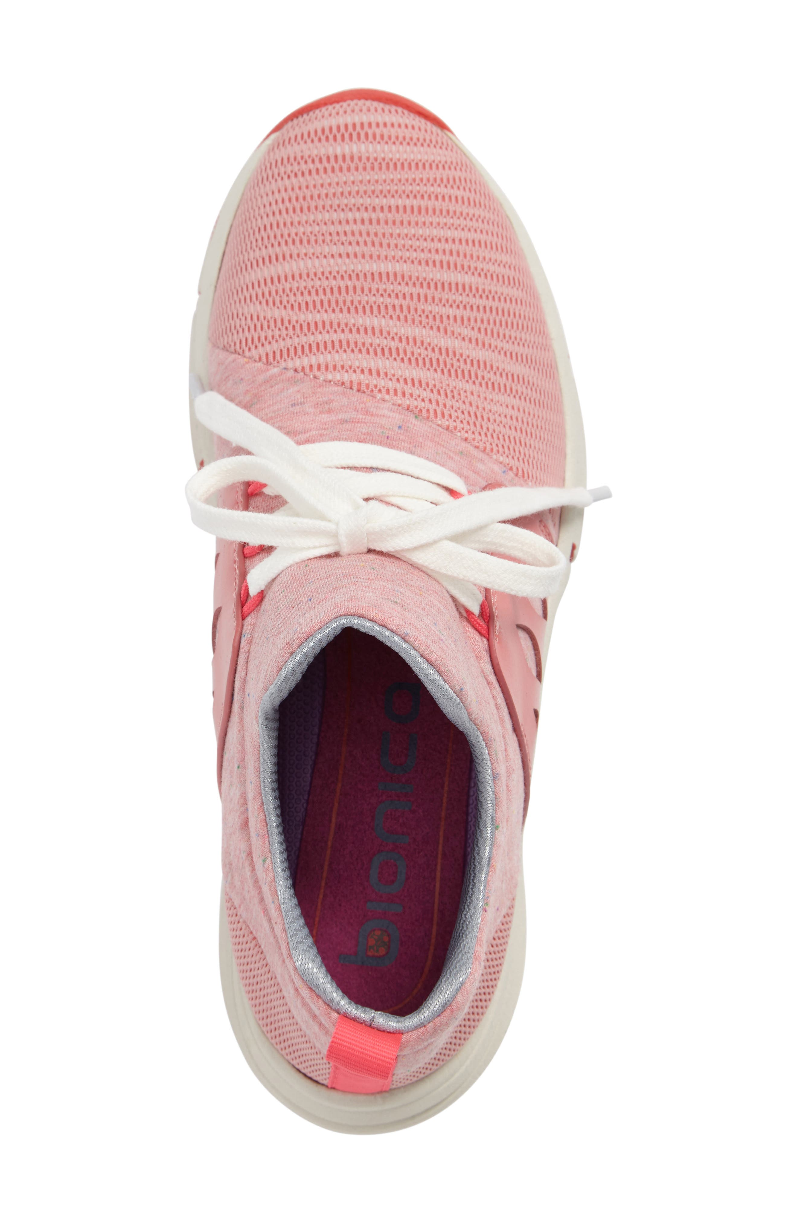 Ordell Sneaker,                             Alternate thumbnail 3, color,                             PINK FABRIC