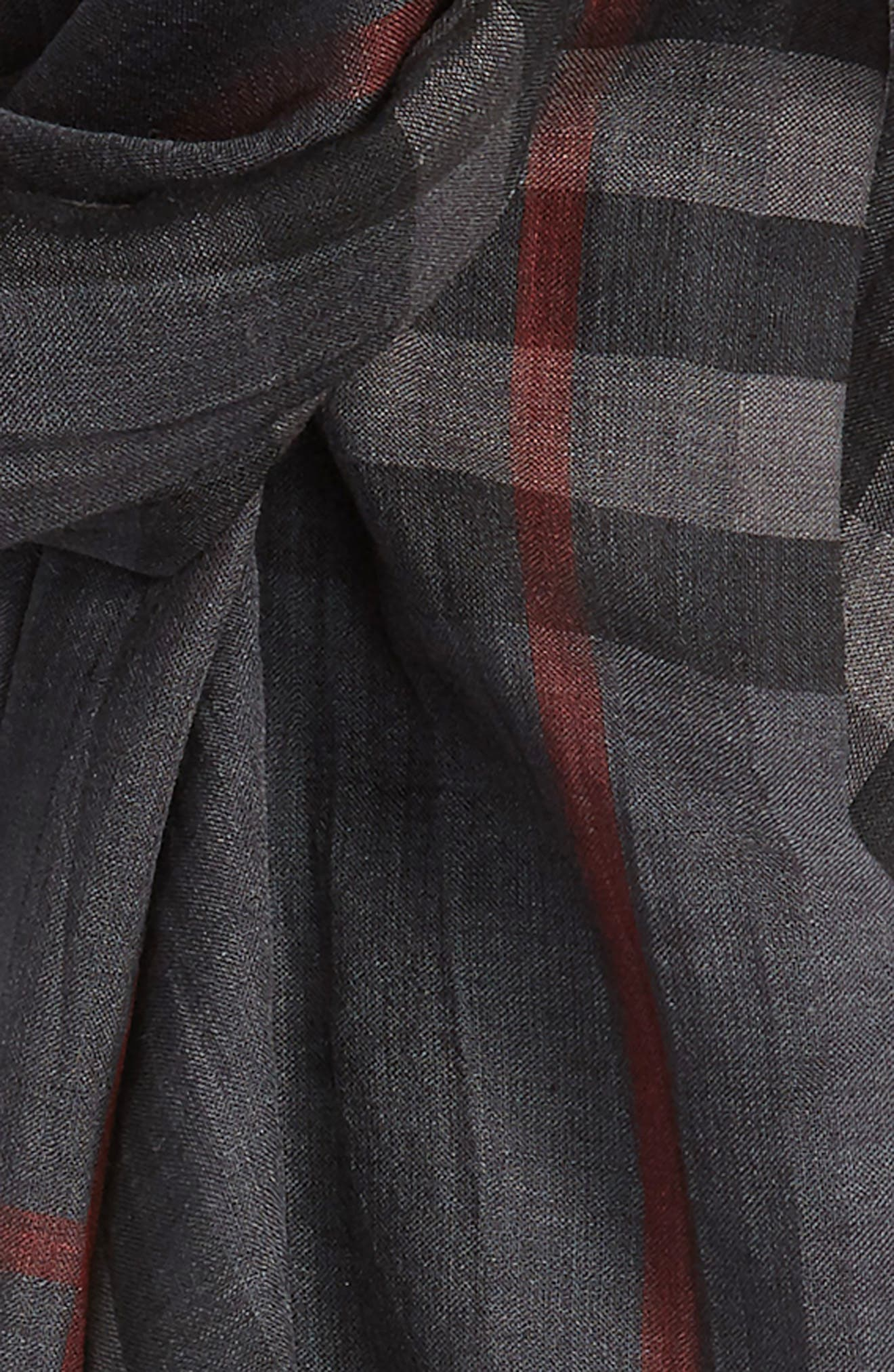 Giant Check Print Wool & Silk Scarf,                             Alternate thumbnail 146, color,