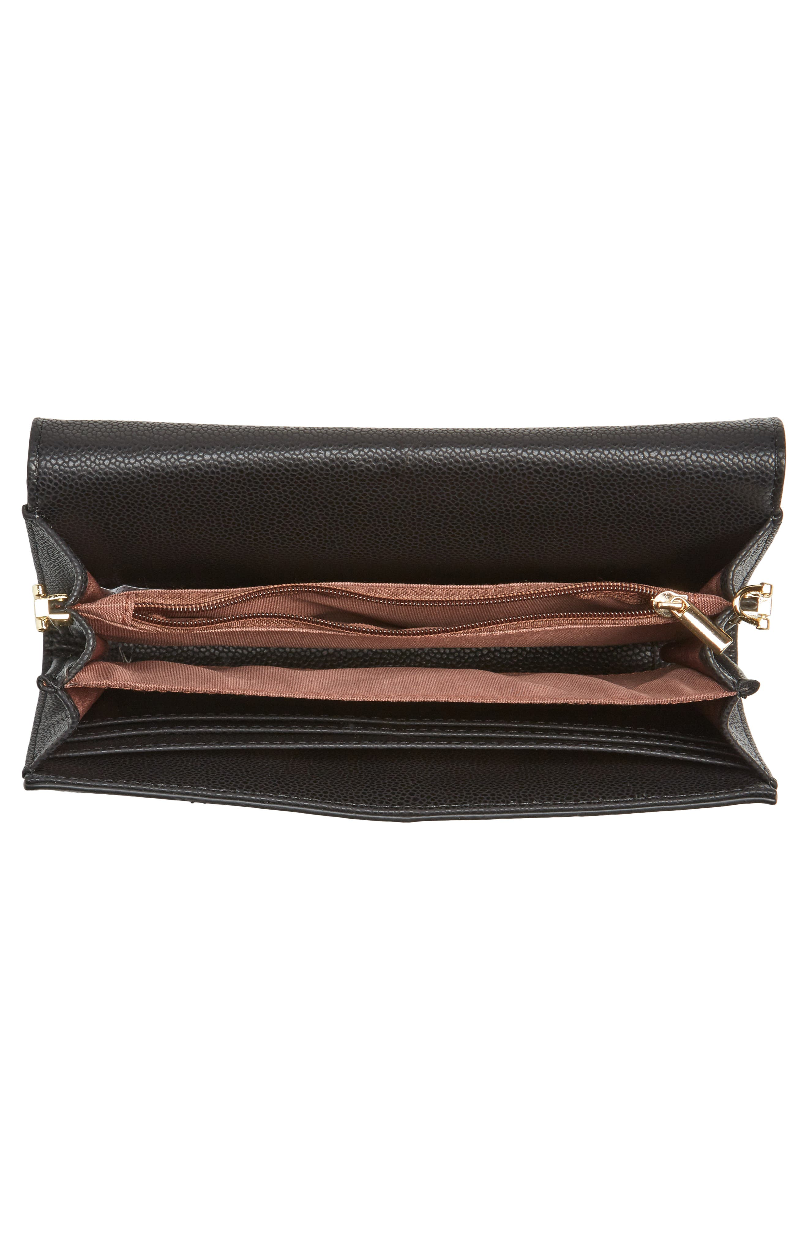 Faux Leather Envelope Crossbody Bag,                             Alternate thumbnail 4, color,