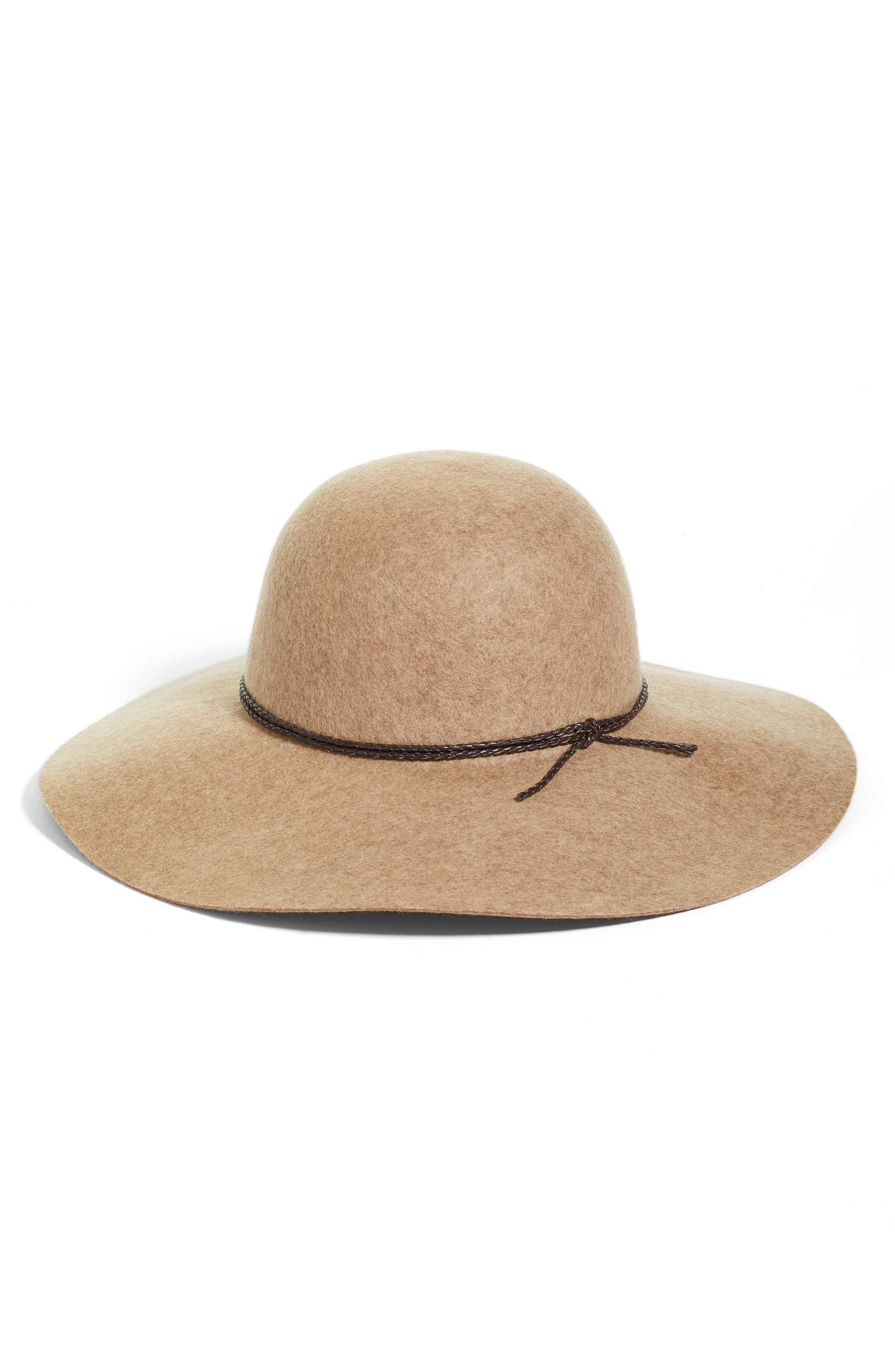 Wool Floppy Hat,                             Main thumbnail 3, color,