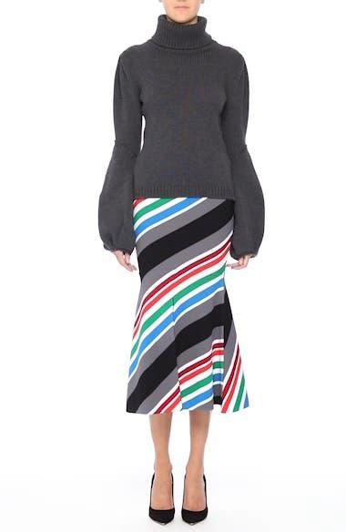 Compact Knit Stripe Skirt, video thumbnail