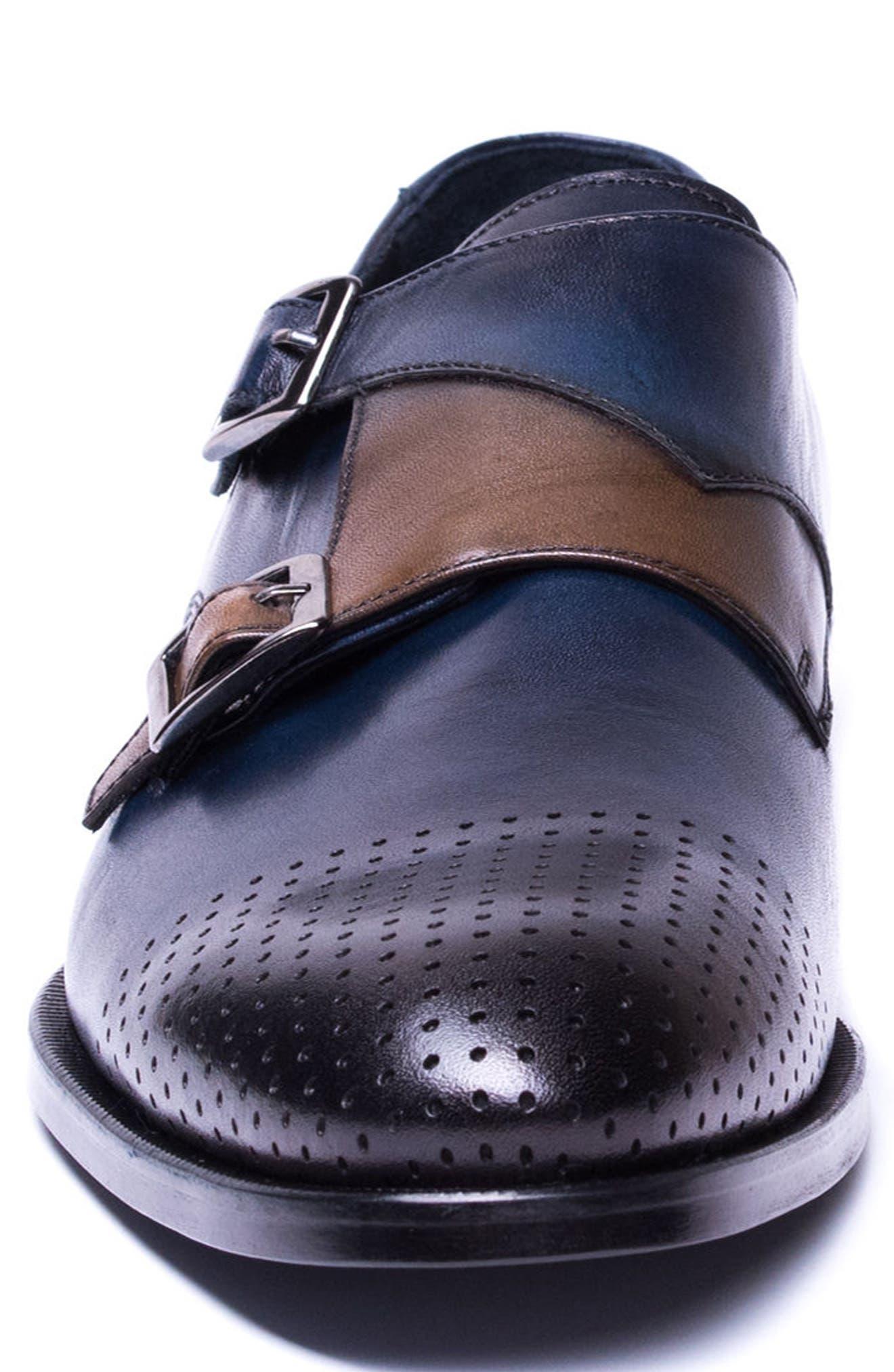 Double Buckle Monk Shoe,                             Alternate thumbnail 8, color,