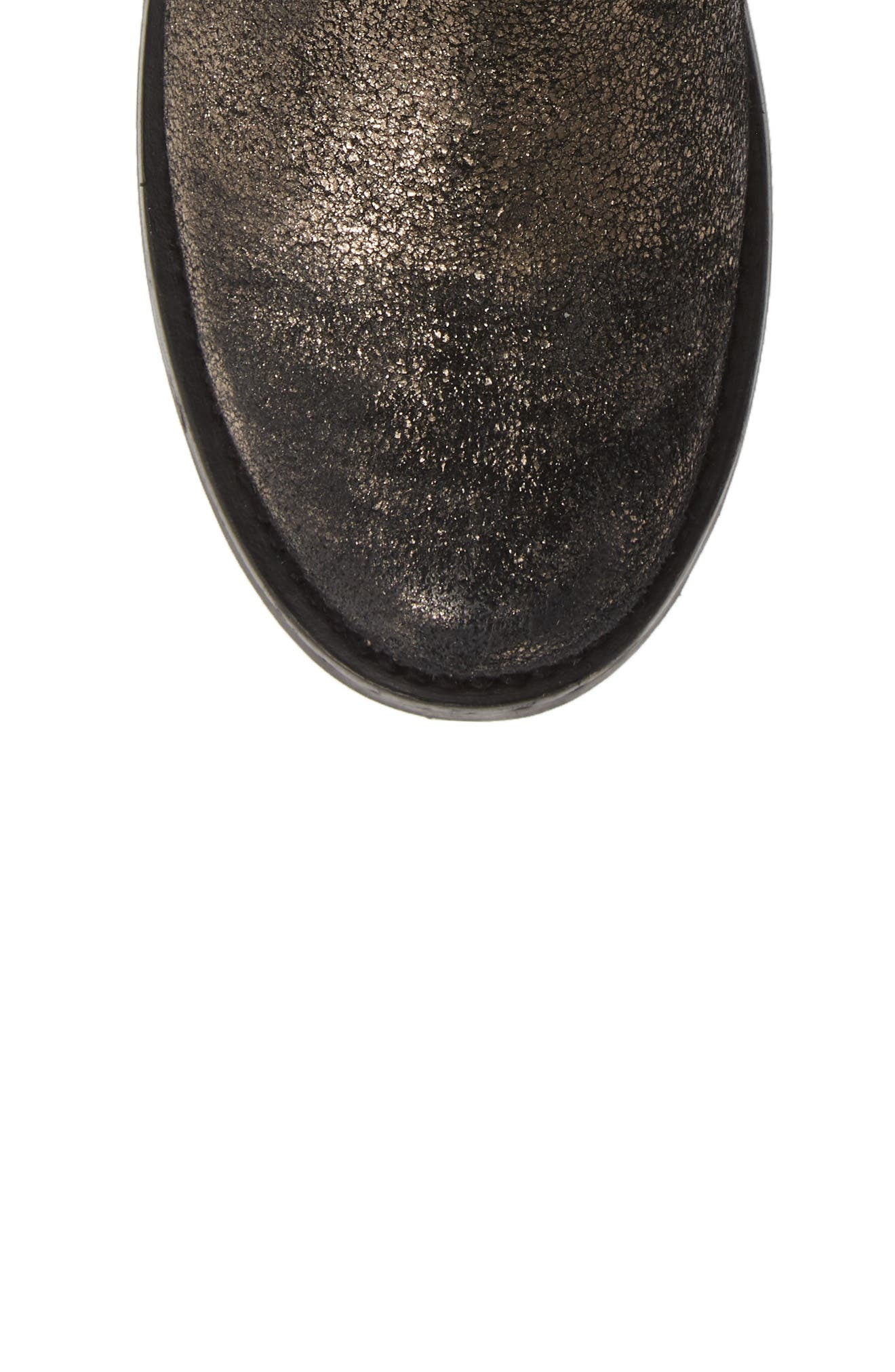 Veronica Bootie,                             Alternate thumbnail 5, color,                             GOLD LEATHER