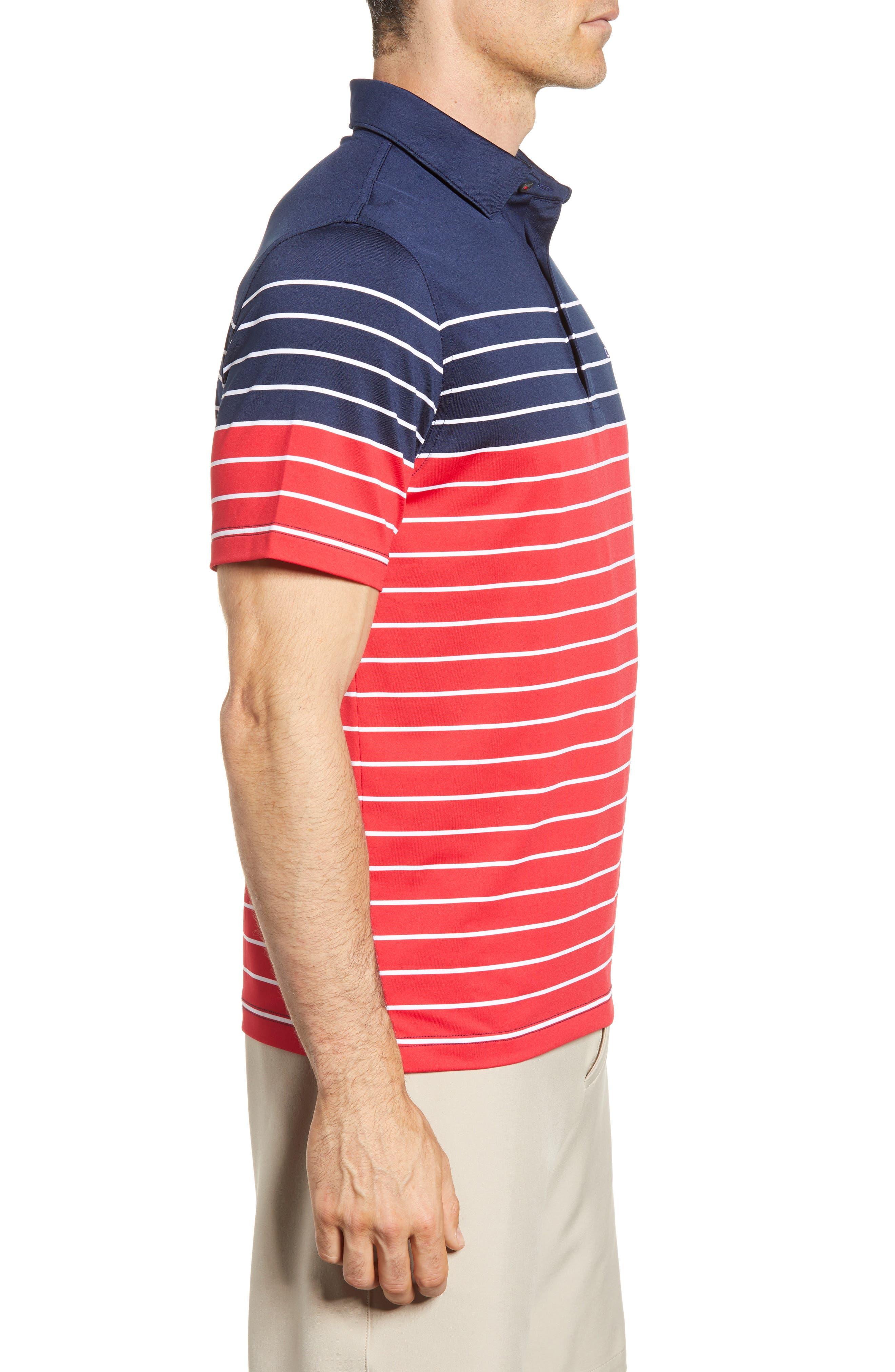 Regular Fit Engineer Stripe Sankaty Performance Polo,                             Alternate thumbnail 8, color,