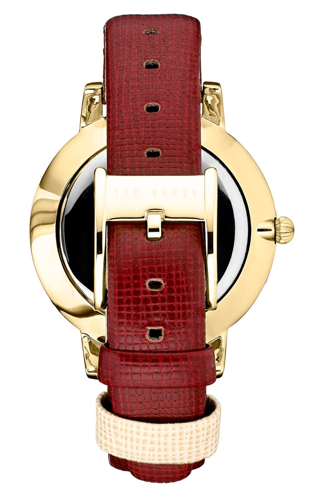 Leather Strap Watch, 40mm,                             Alternate thumbnail 9, color,