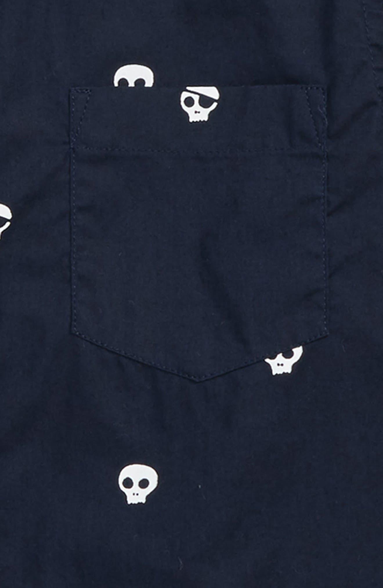 Skull Critter Button Down Shirt,                             Alternate thumbnail 2, color,                             400