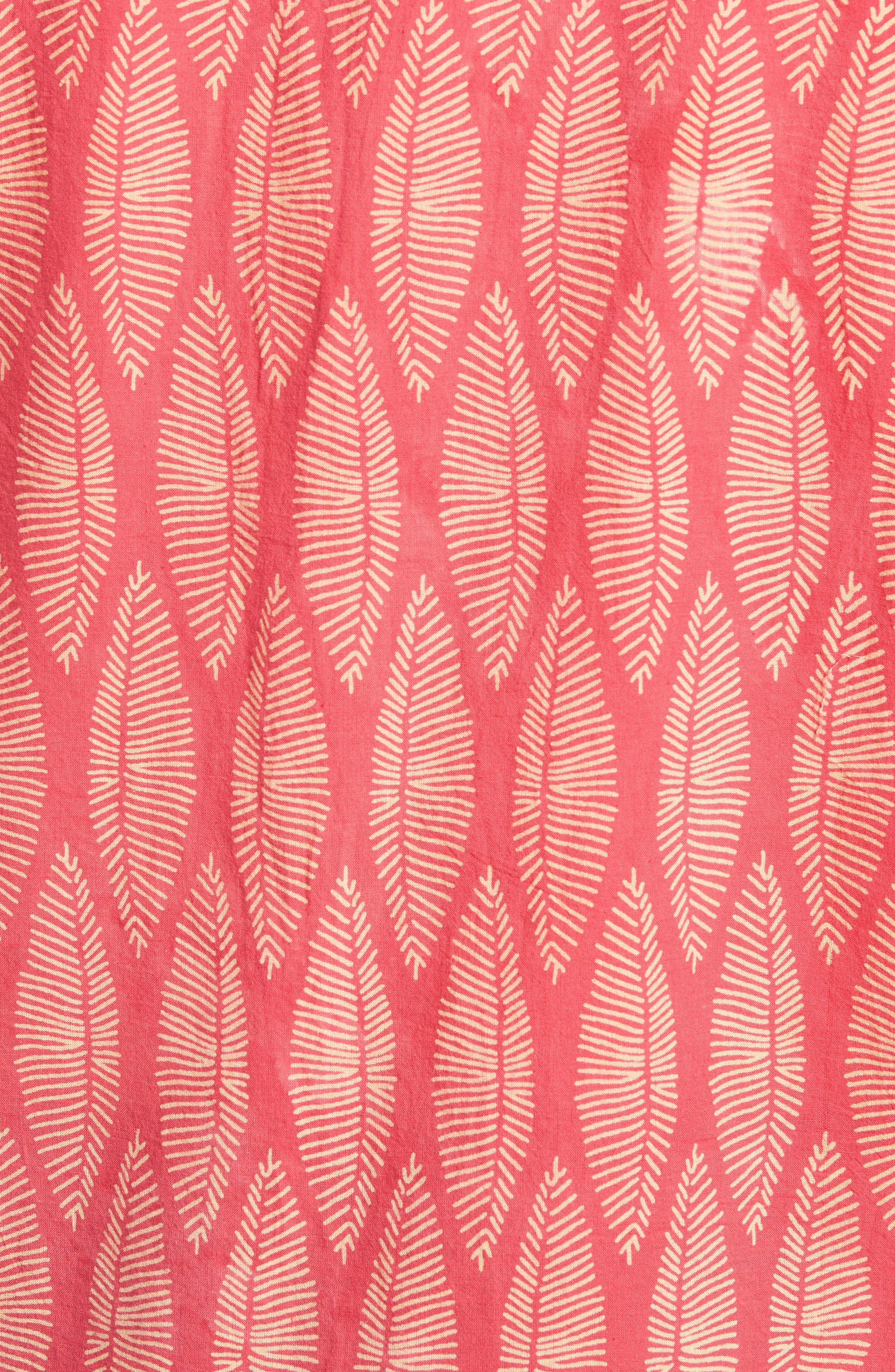 Coast Surfboard Leaf Print Sport Shirt,                             Alternate thumbnail 5, color,