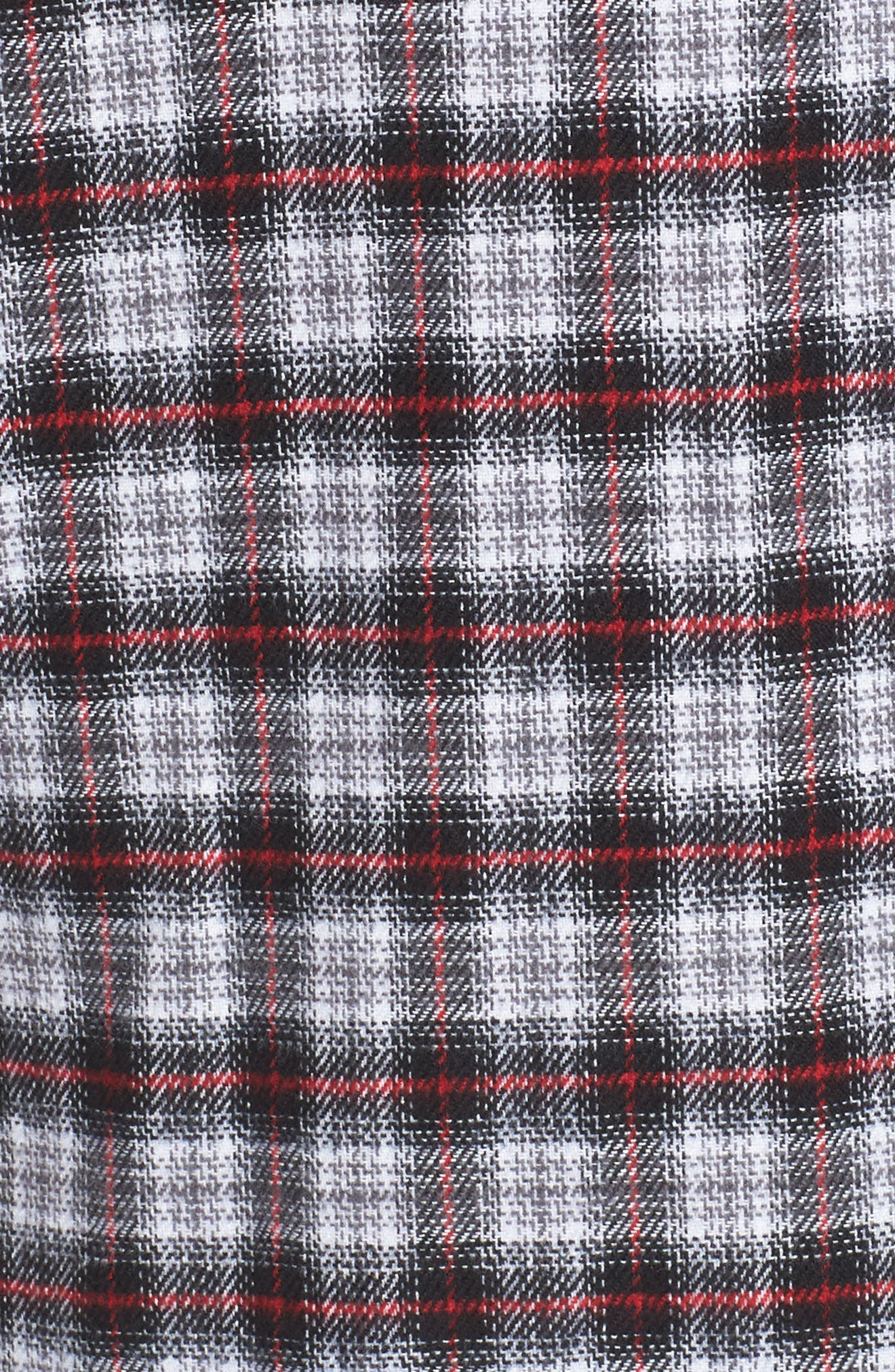 Victoria Oversize Flannel Shirt,                             Alternate thumbnail 5, color,                             001
