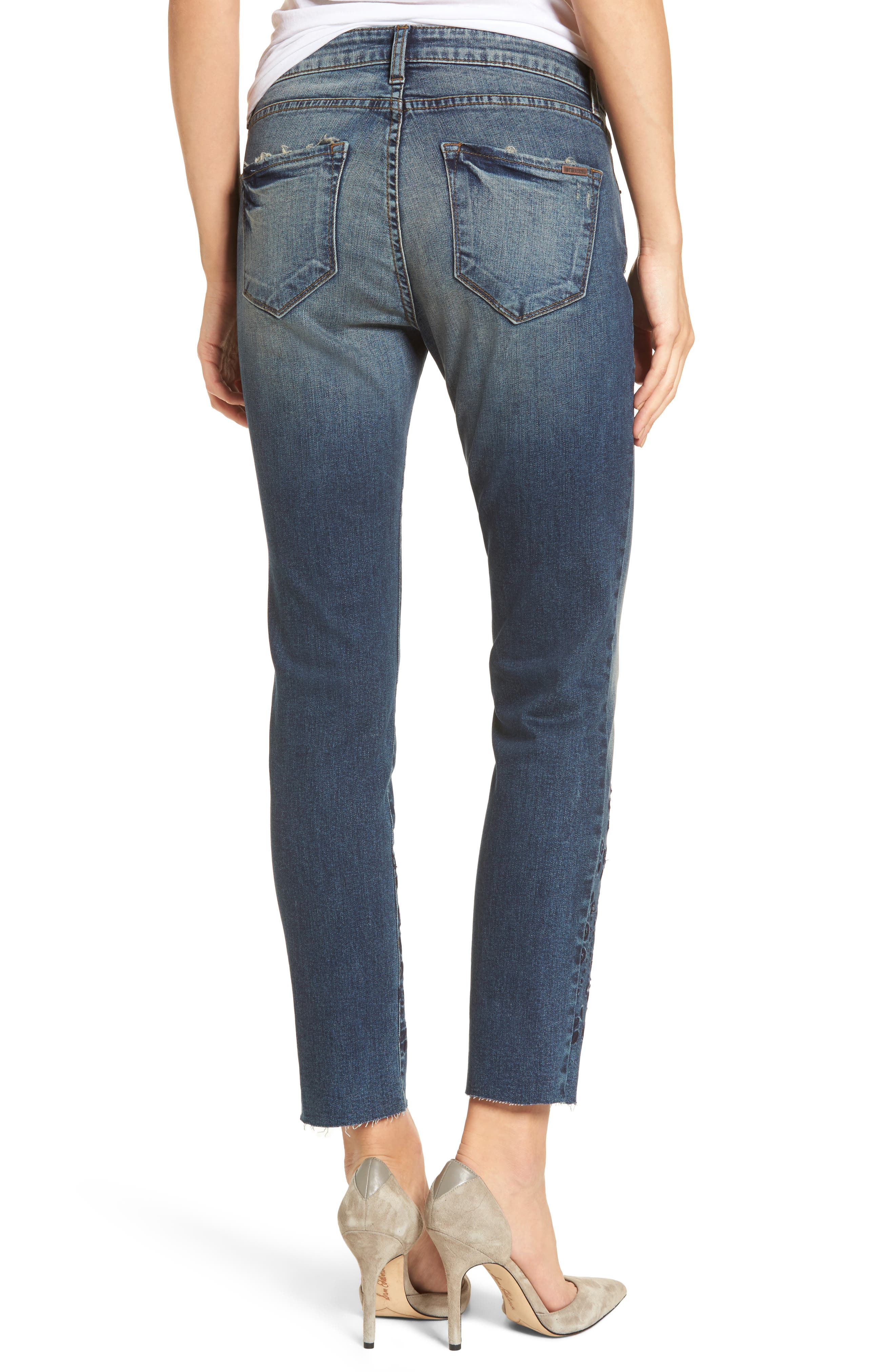 Taylor Ripped Eyelet Straight Leg Jeans,                             Alternate thumbnail 2, color,                             400