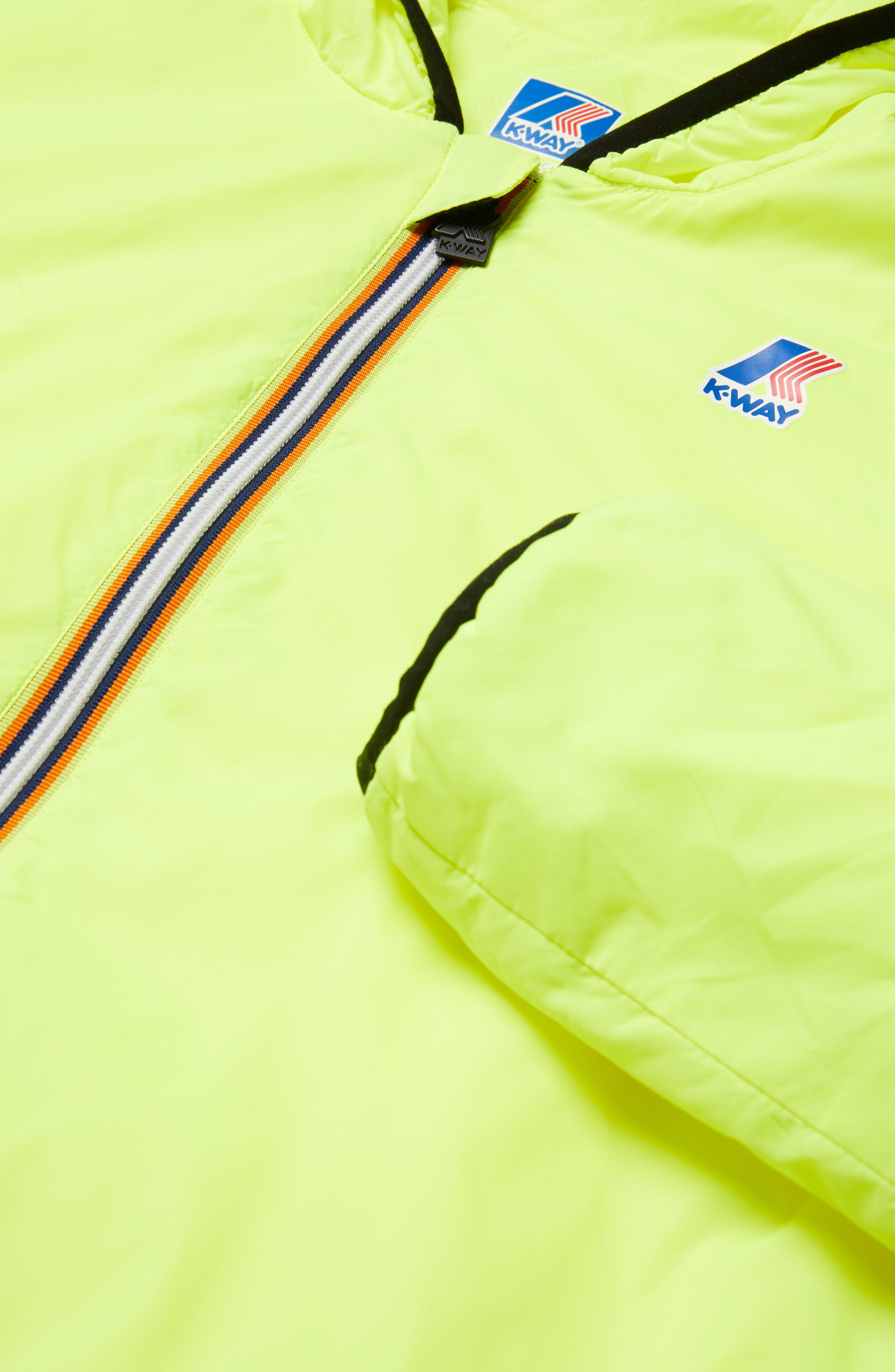 Le Vrai 3.0 Claude Light Warm Water Resistant Hooded Windbreaker,                             Alternate thumbnail 6, color,                             YELLOW FLUO