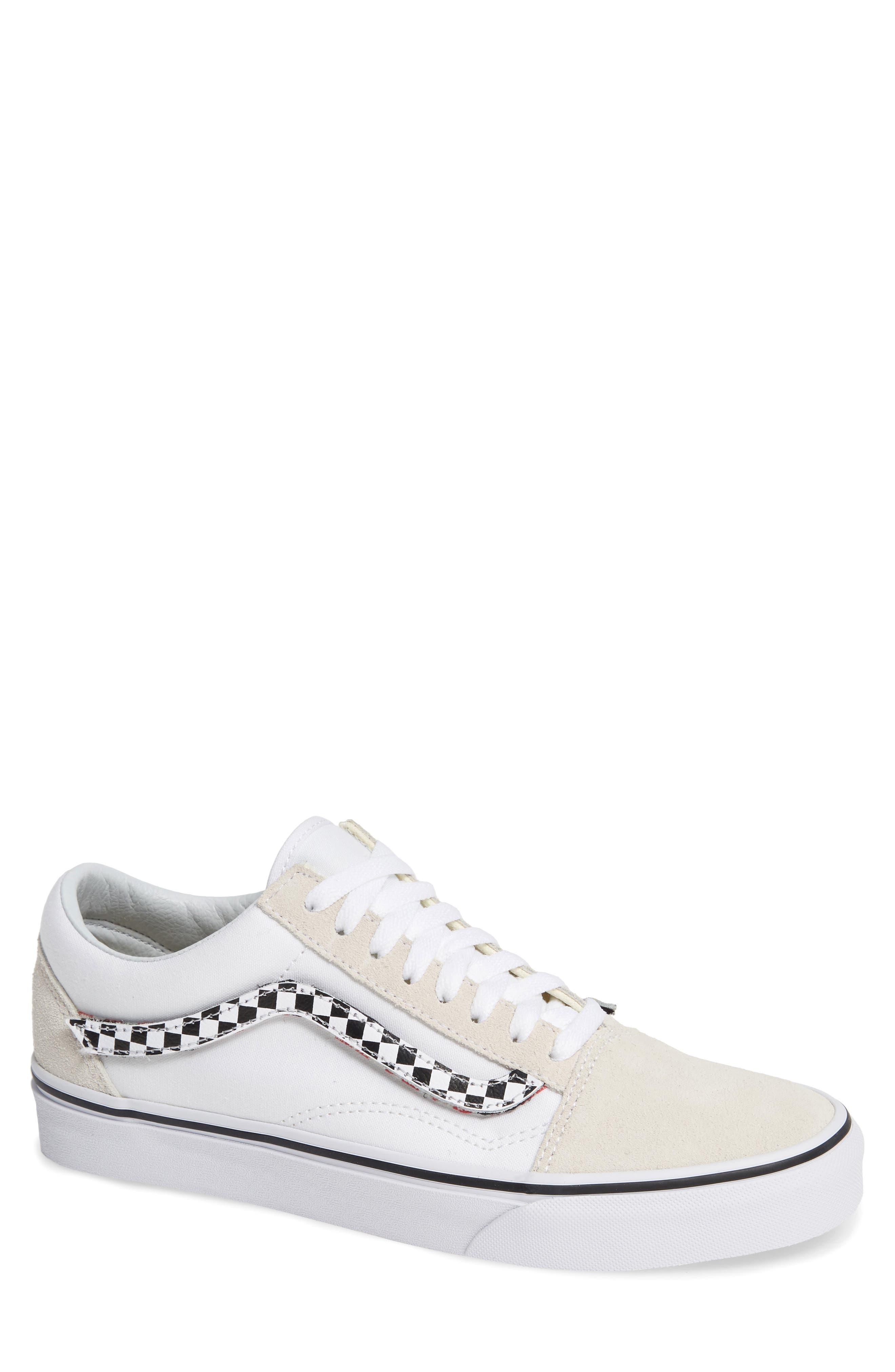 VANS,                             Old Skool Sneaker,                             Main thumbnail 1, color,                             TRUE WHITE/ TRUE WHITE