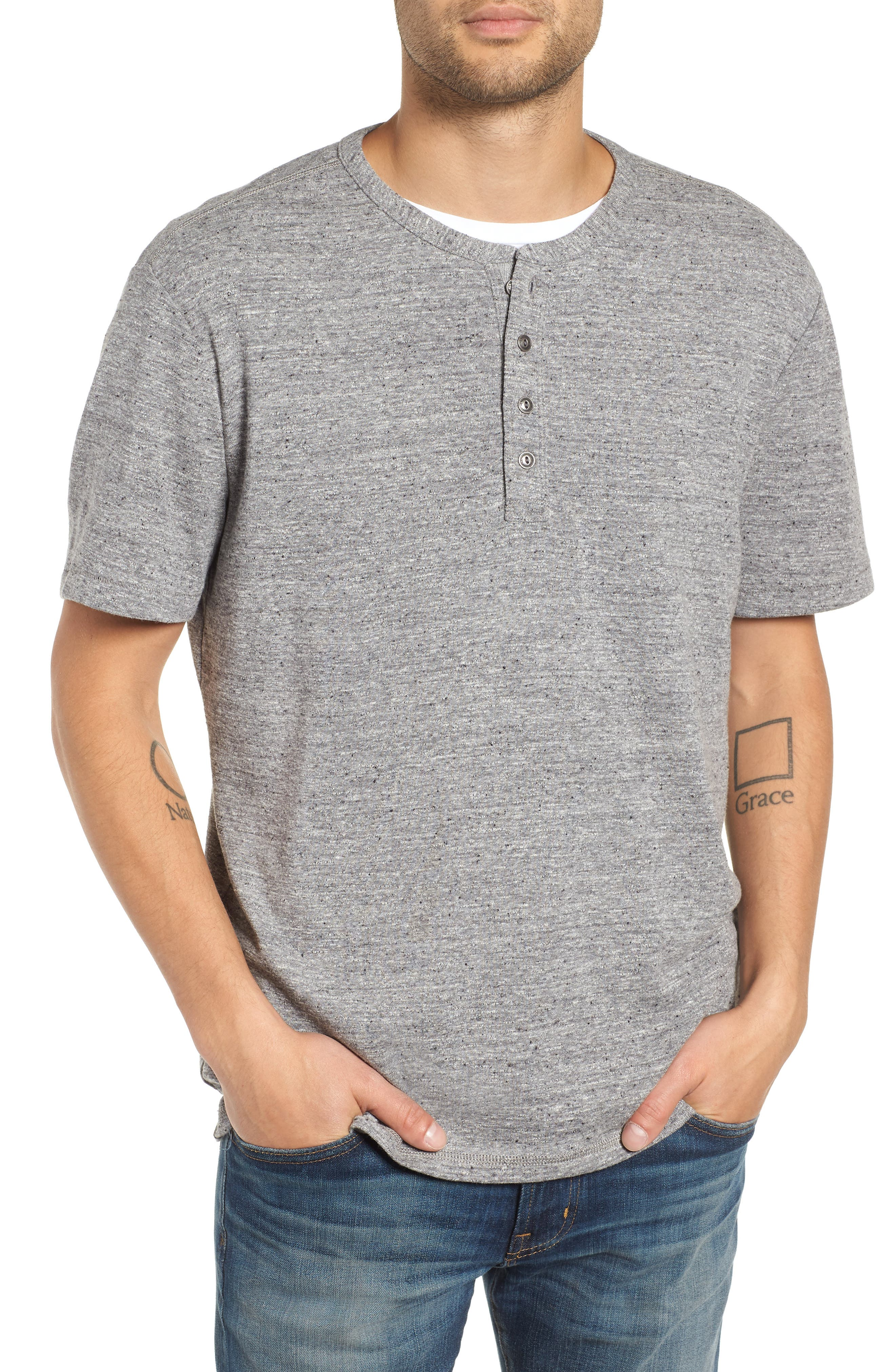Nep Henley Shirt,                         Main,                         color, 021