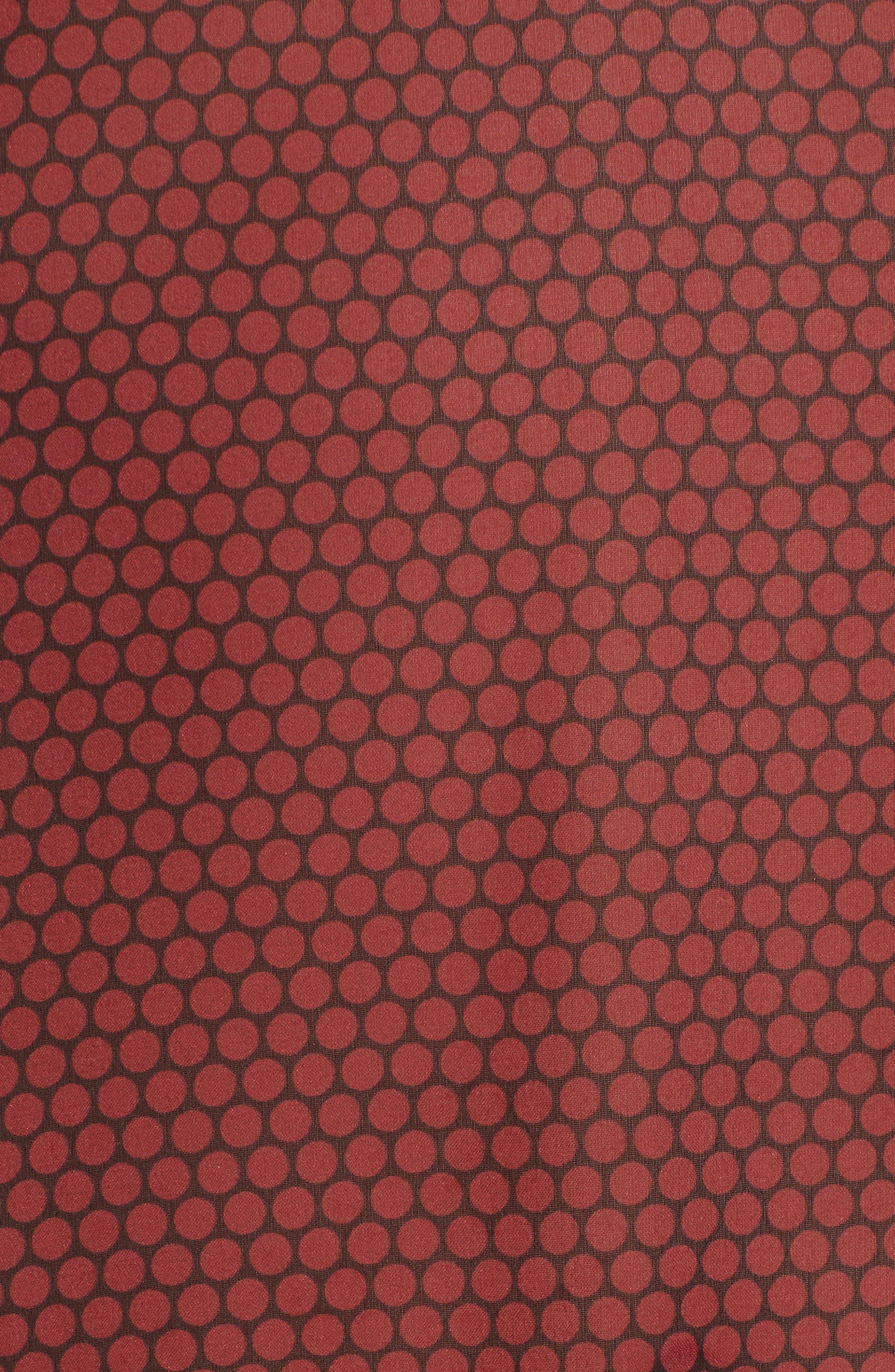 Dot Silk Chiffon Shell,                             Alternate thumbnail 5, color,                             BLACK/ MULBERRY