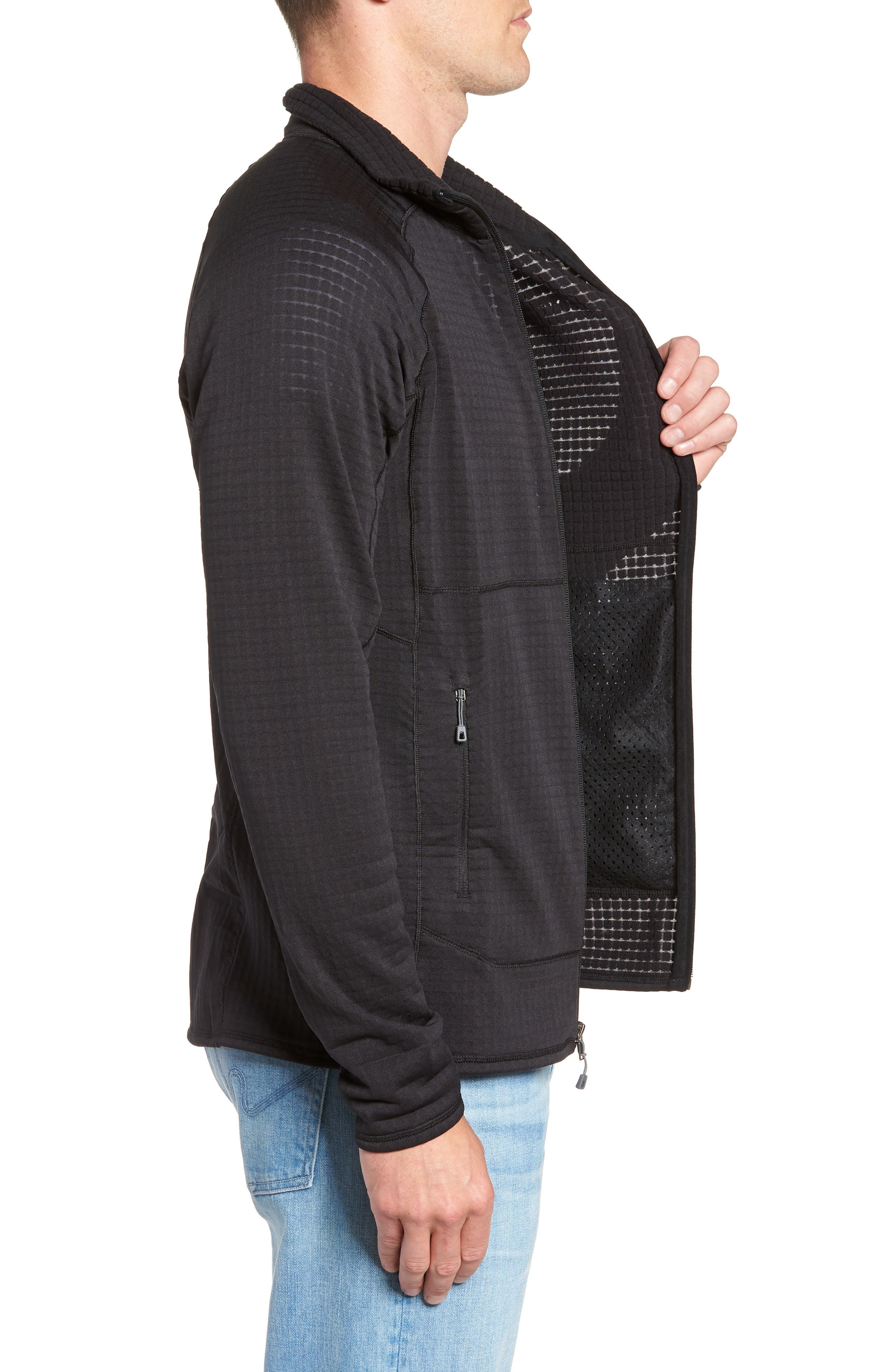 R1<sup>®</sup> Full Zip Jacket,                             Alternate thumbnail 3, color,                             BLACK