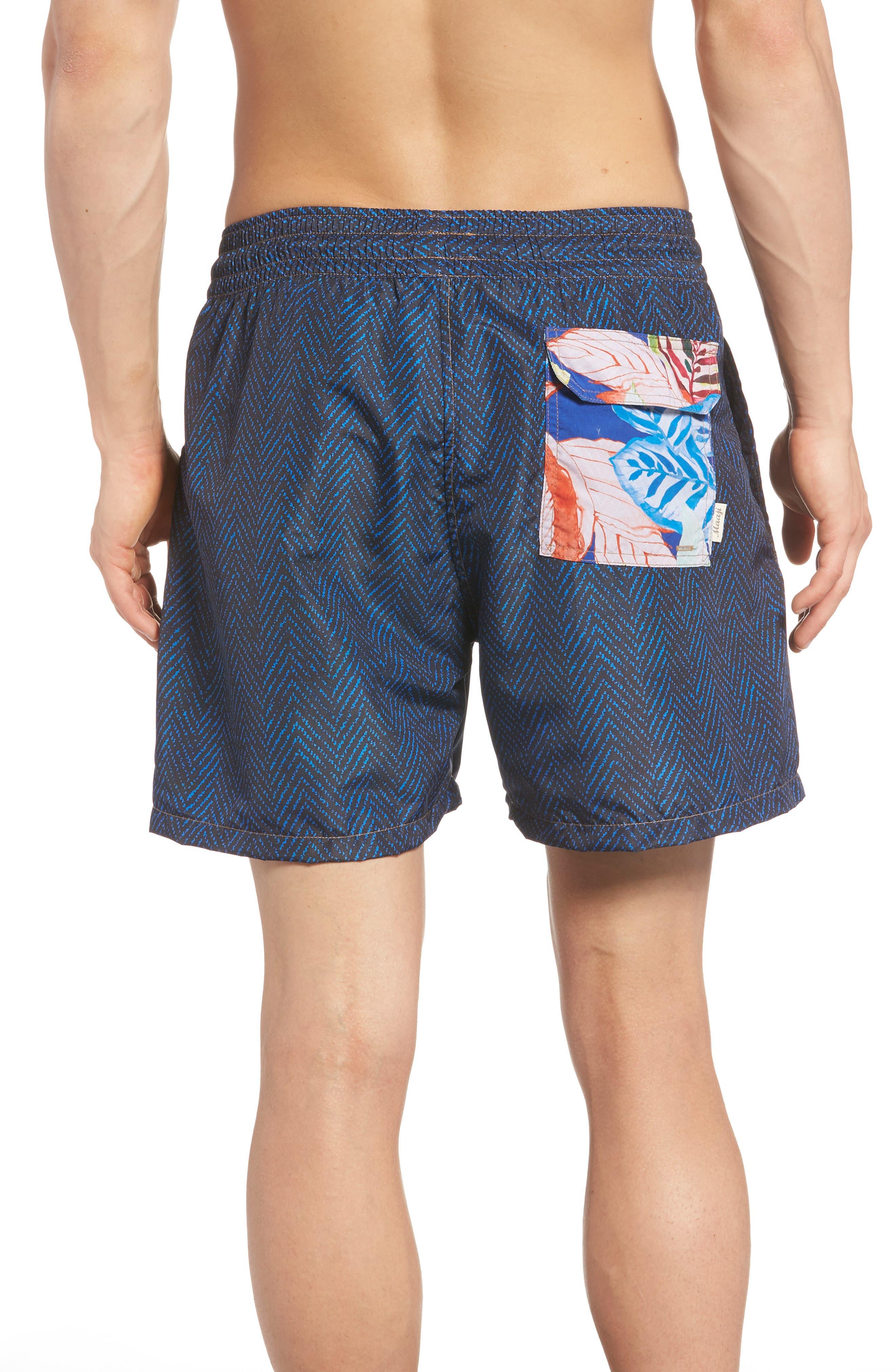 Bells Beach Swim Trunks,                             Alternate thumbnail 3, color,                             BLUE