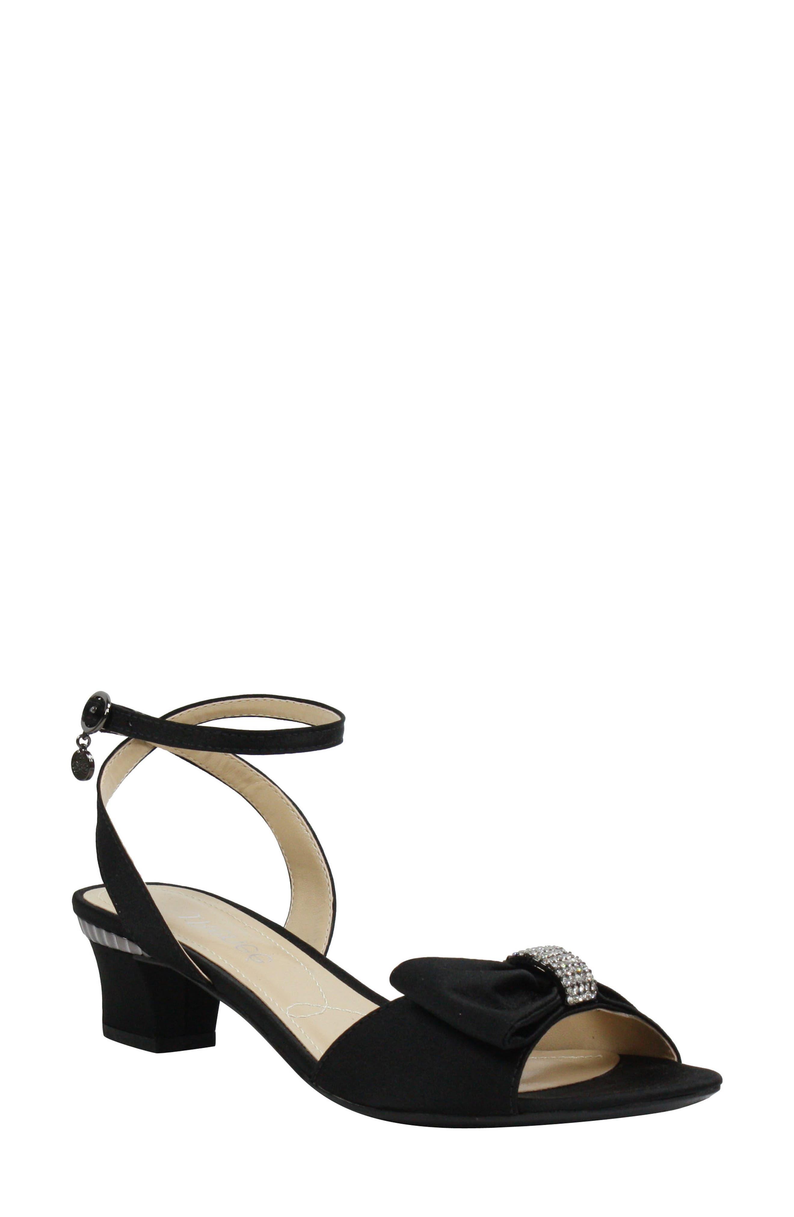 Davet Sandal,                         Main,                         color, BLACK FABRIC