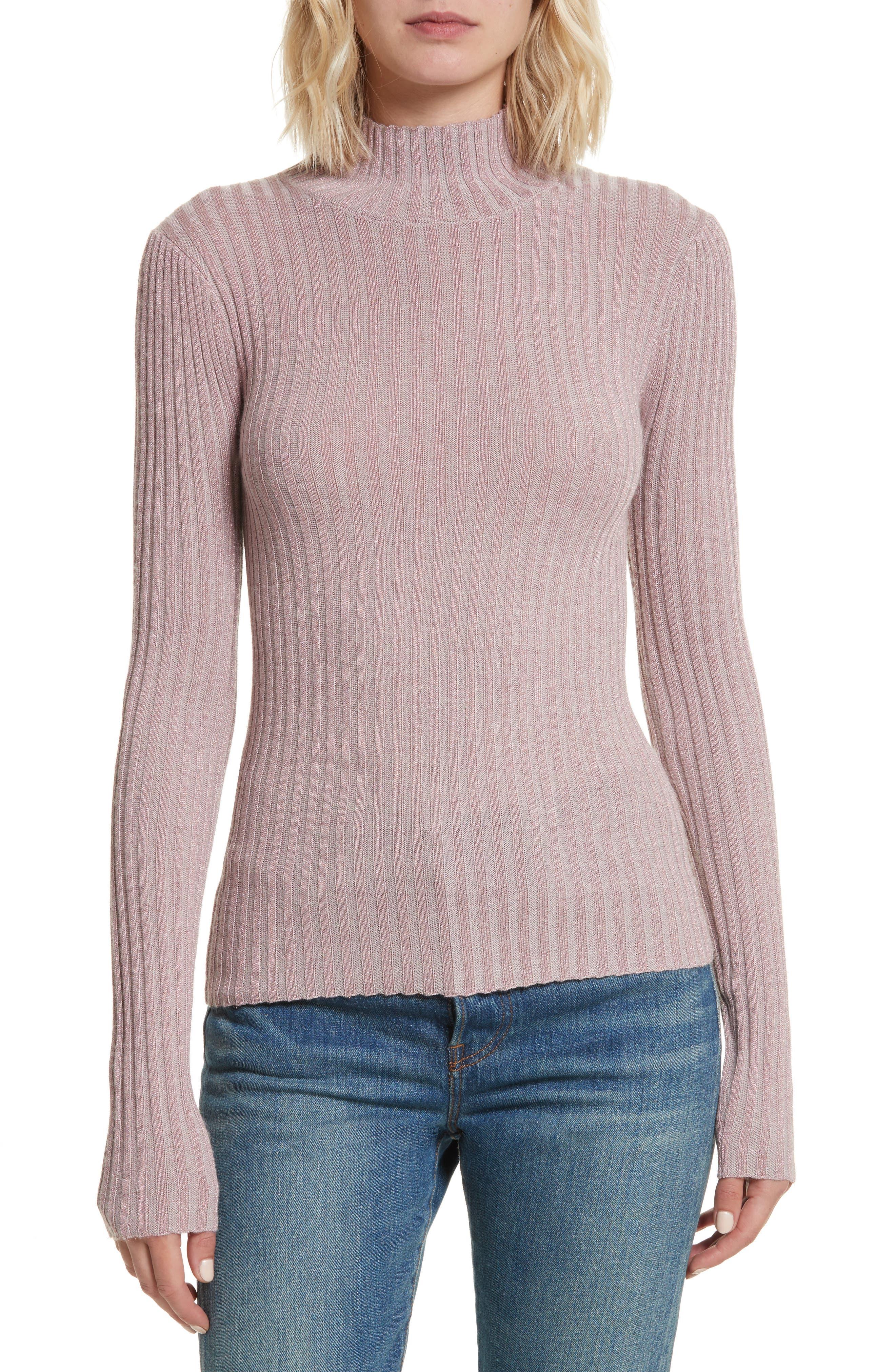Rib Turtleneck Pullover,                         Main,                         color,